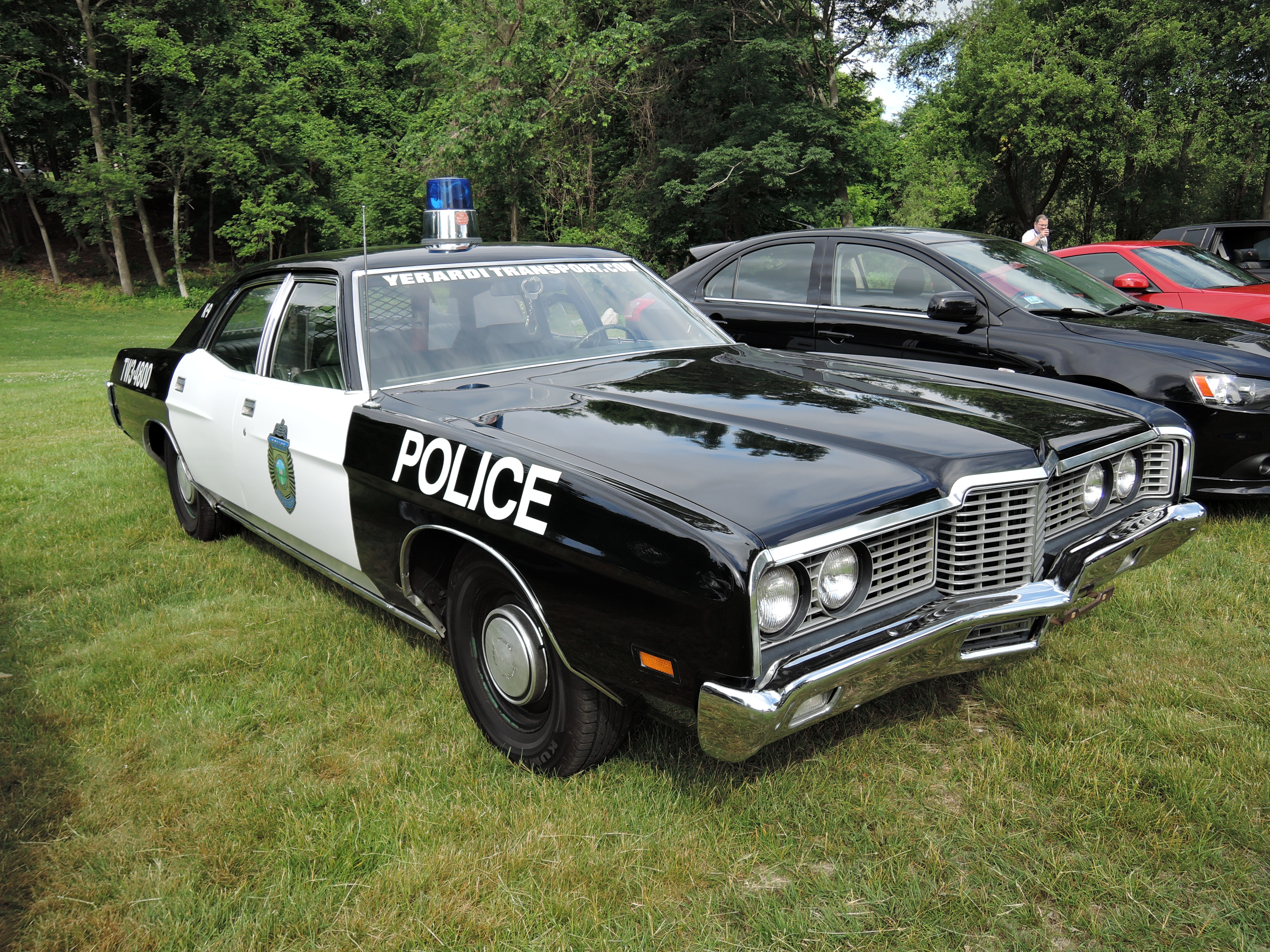police car - cars and coffee car show at larz Anderson museum of transportation