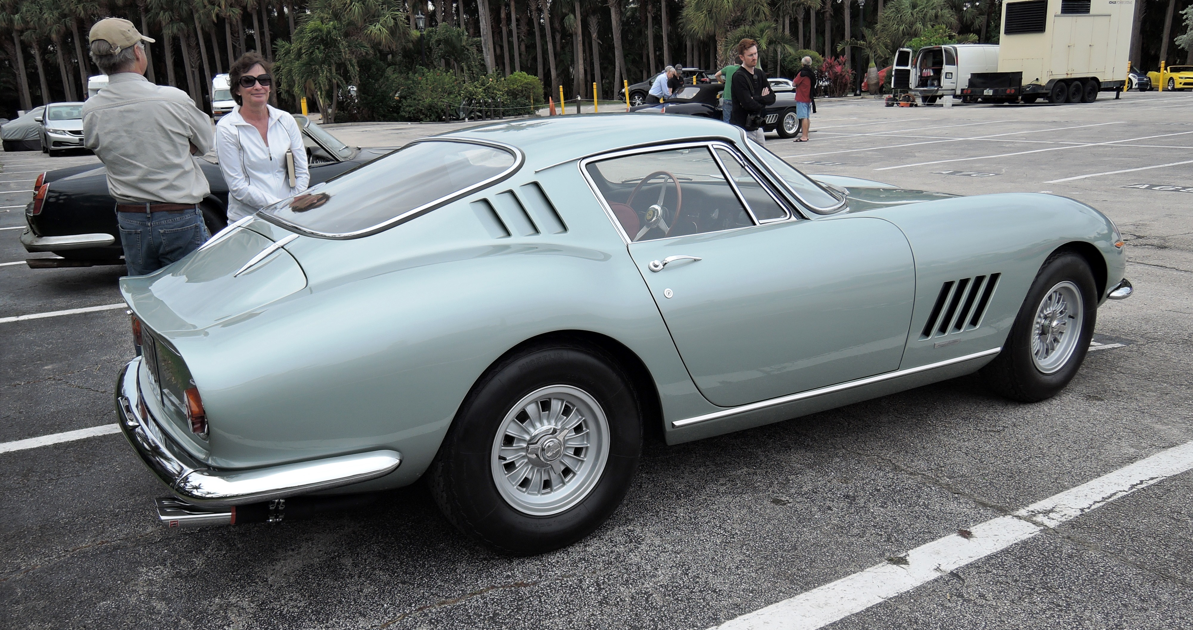 light blue alloy ferrari 275 - cavallino jet center