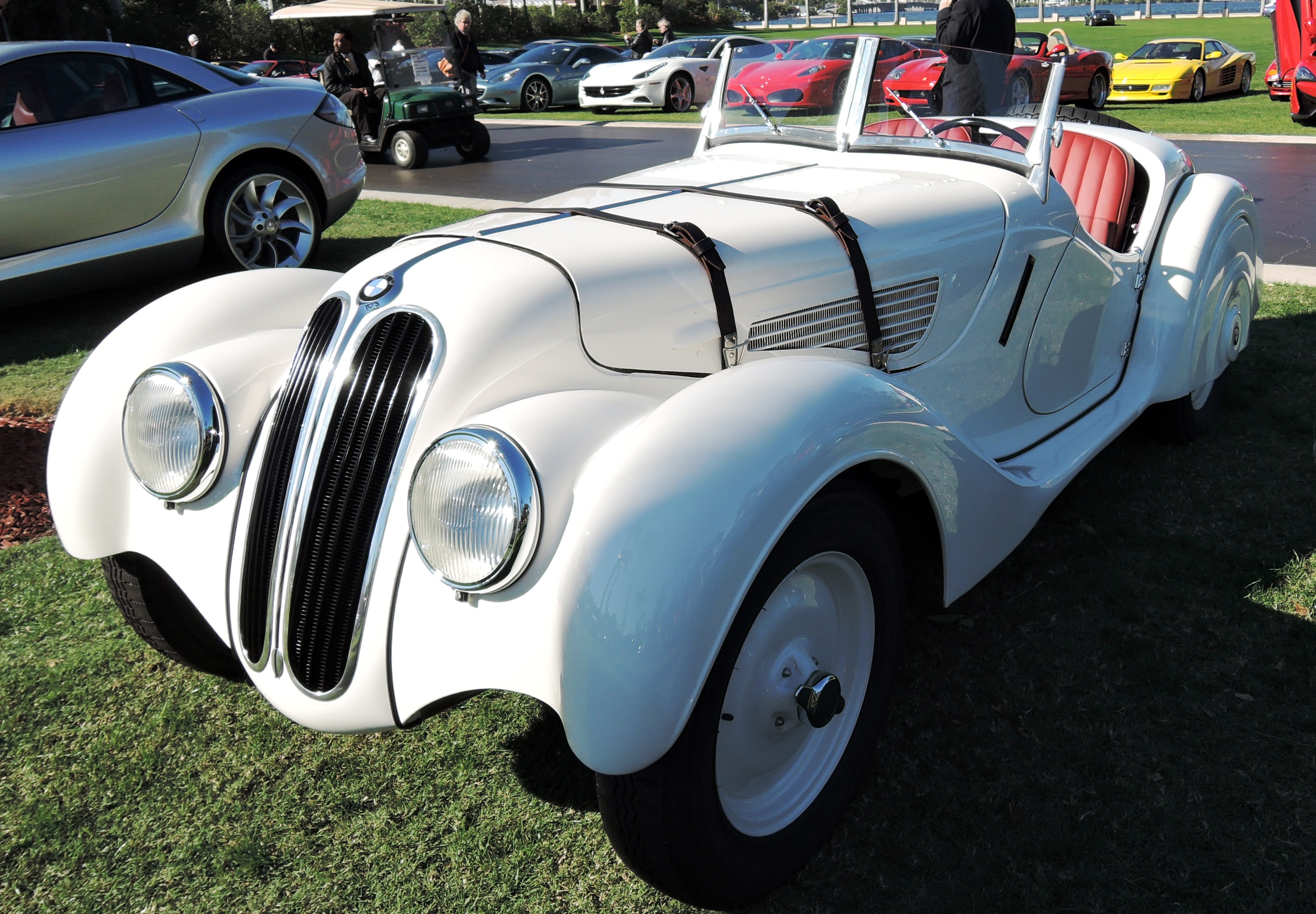 white 1937 BMW 328 - mar-a-lago
