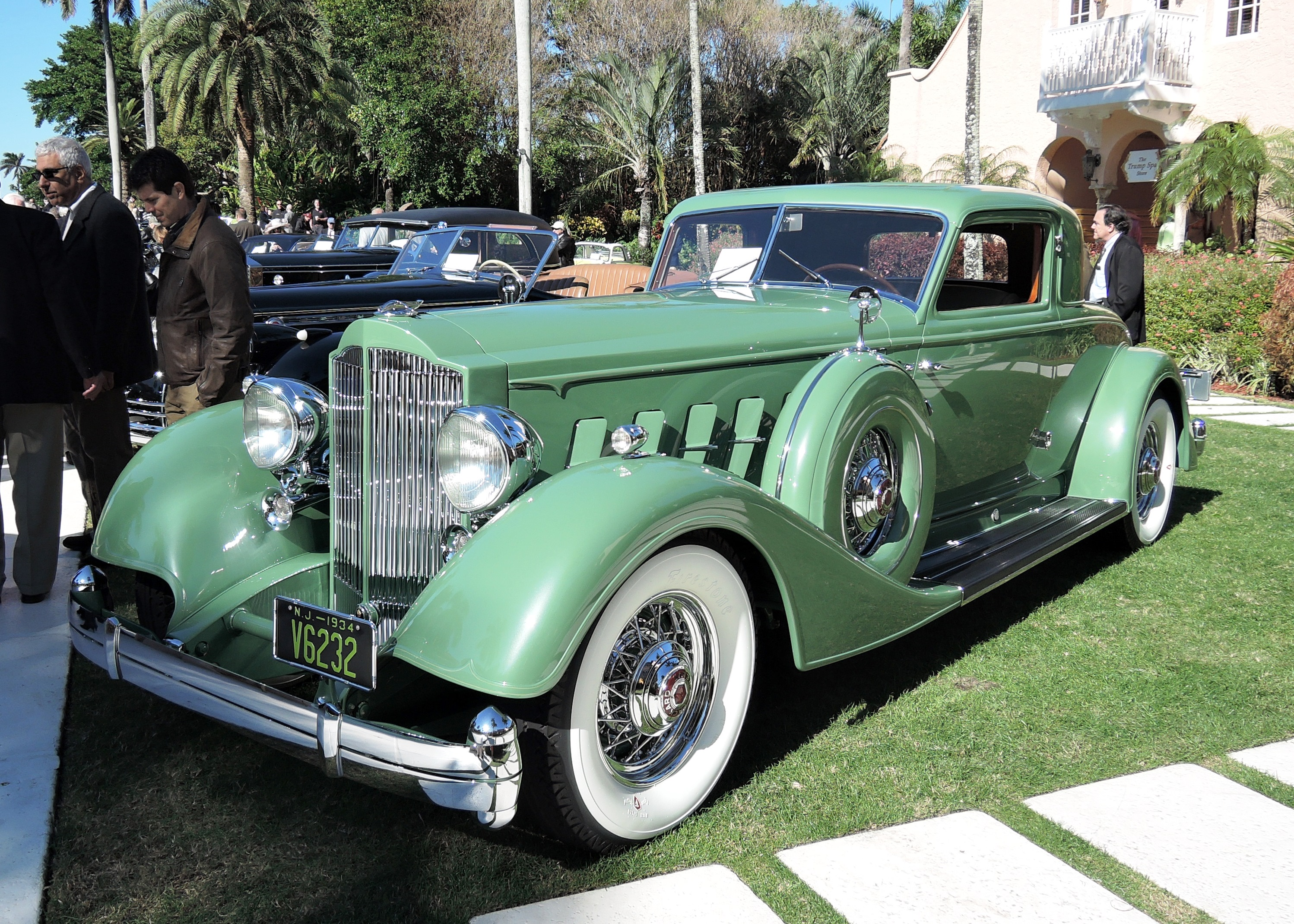 green 1934 Packard 12 Dietrich - mar-a-lago