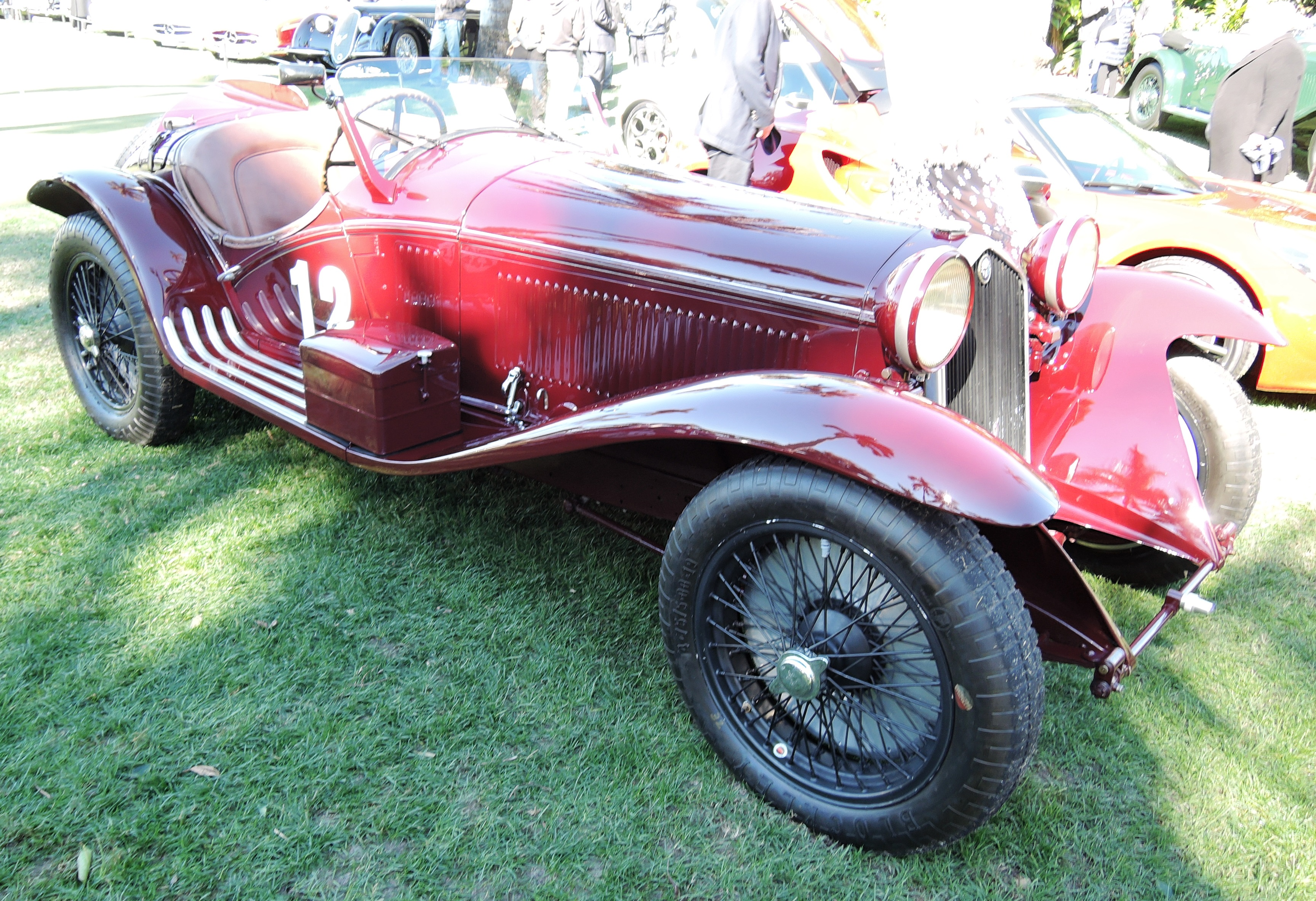 dark red 1932 Alfa 8C 2300 Touring - mar-a-lago