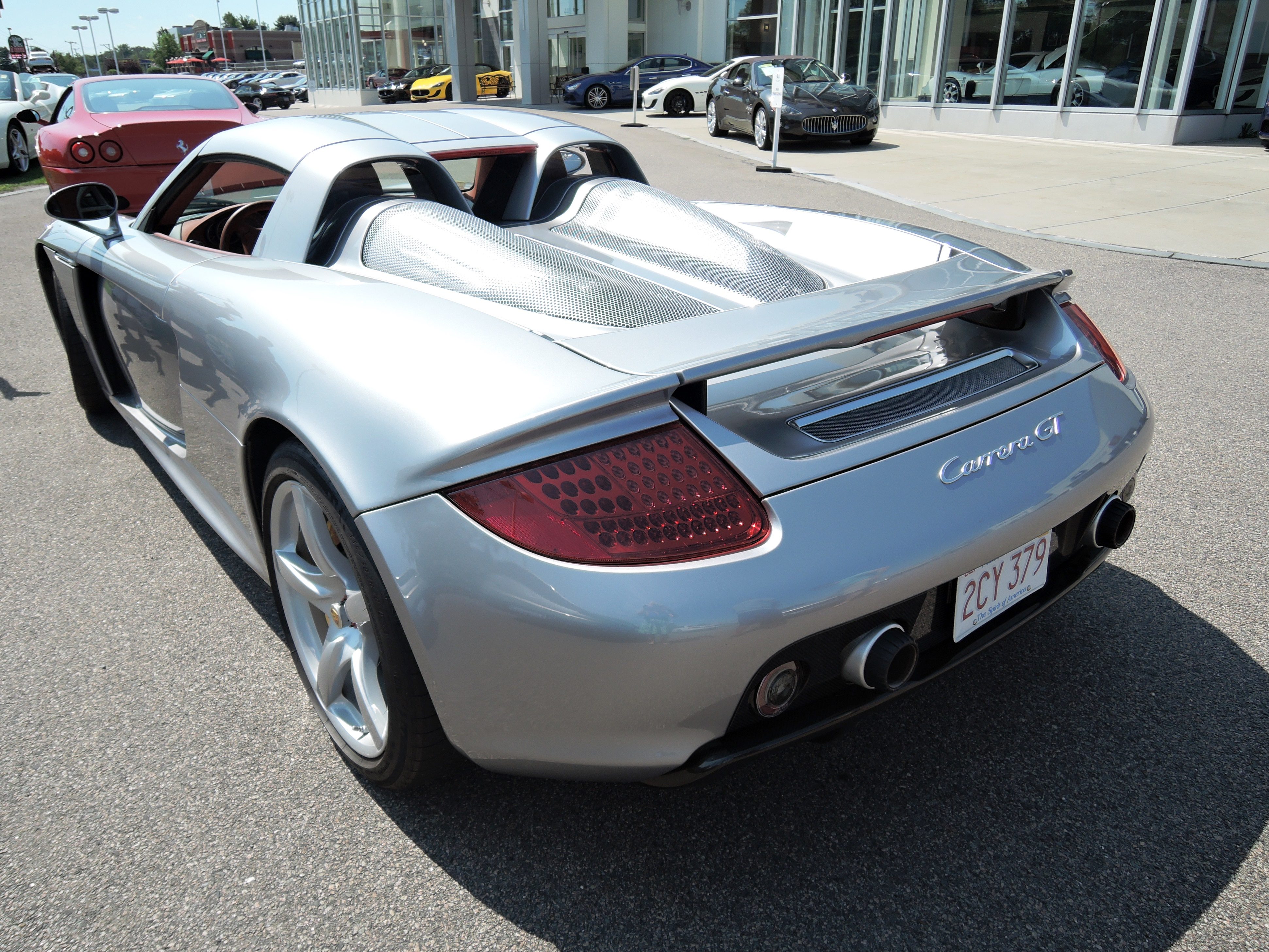 silver 2005 Porsche Carrera GT - monterey car week