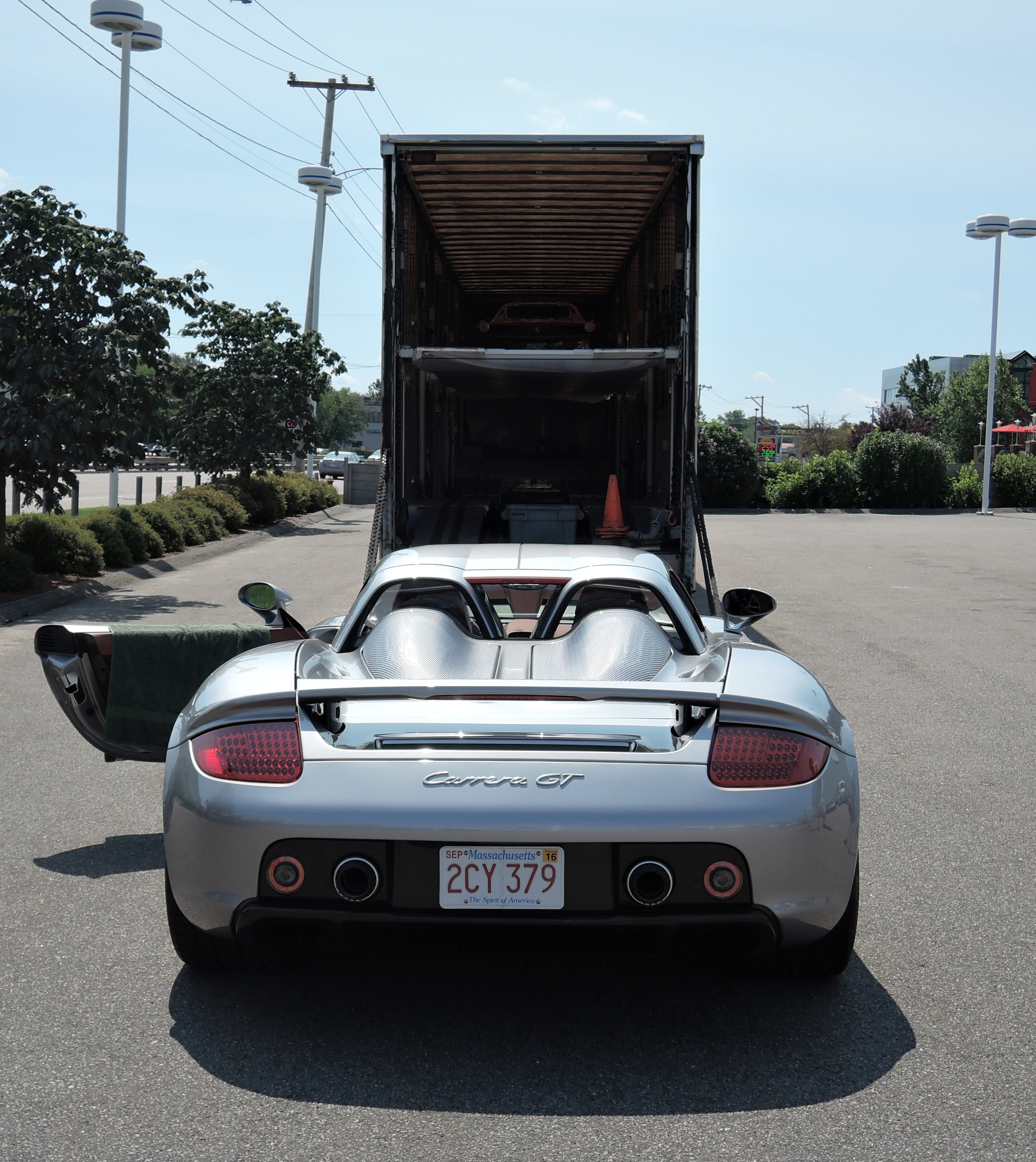 silver Porsche Carrera GT - monterey car week
