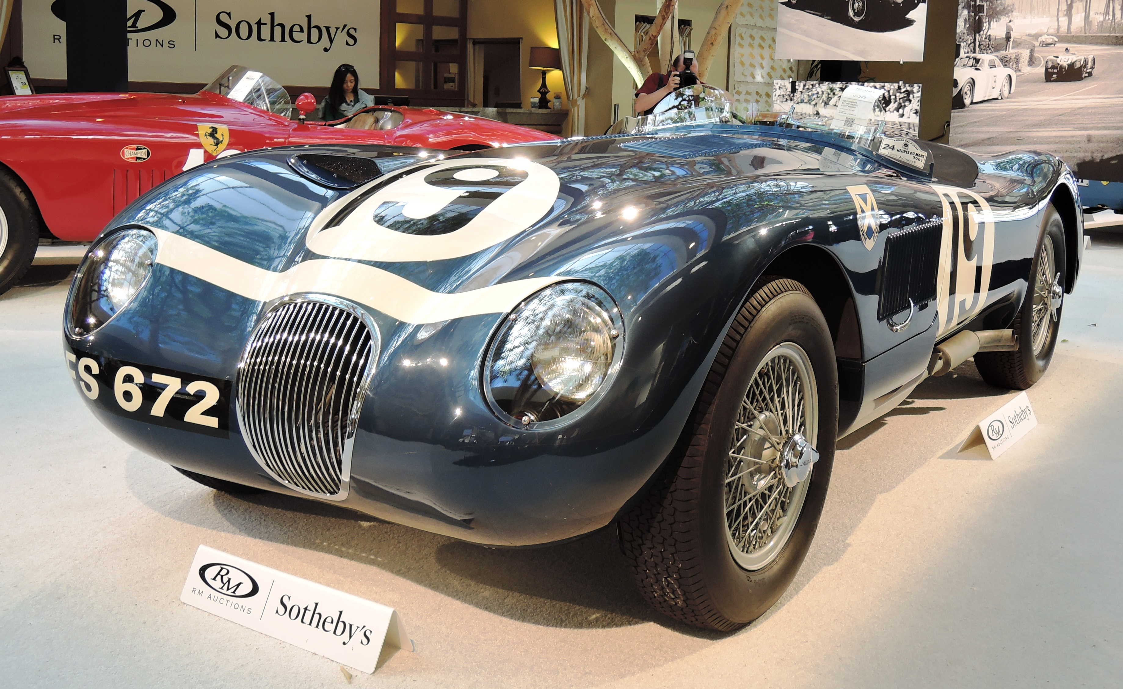1953 Jaguar C-Type Works Lightweight - classic car auctions