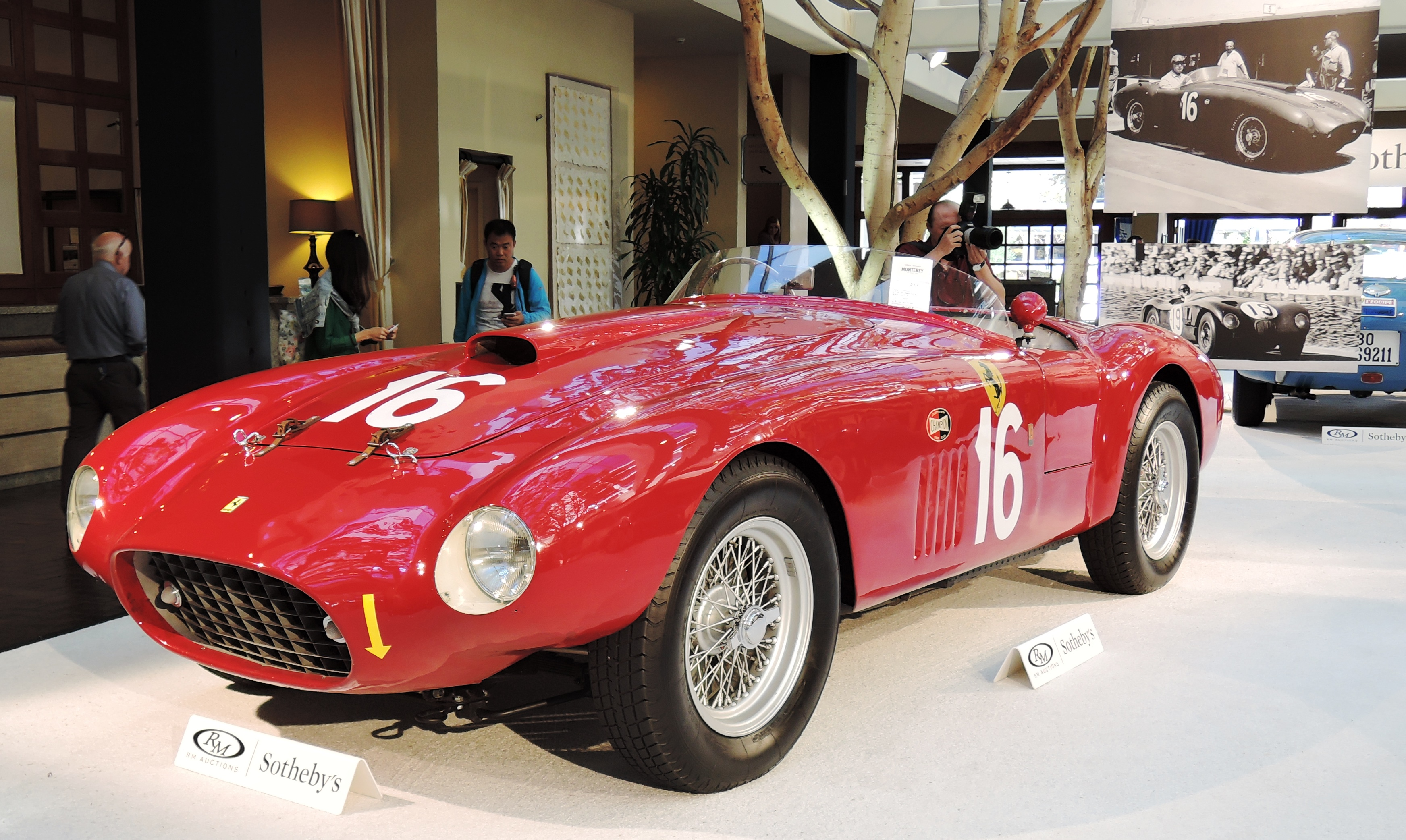 red 1950 Ferrari 275S/340 America Barchetta by Scaglietti - classic car auctions
