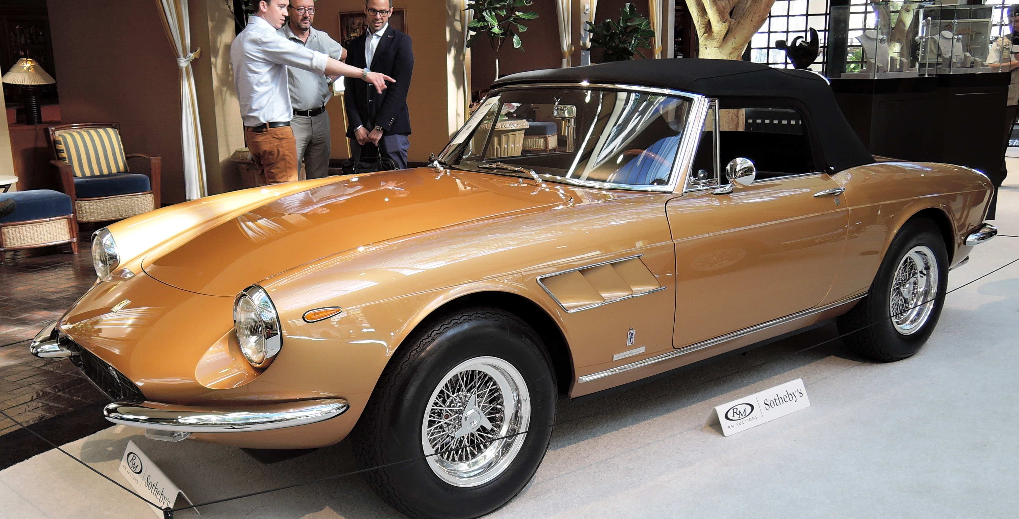 oro chiaro 1967 Ferrari 330 GTS by Pininfarina at RM Sotheby''s - classic car auctions