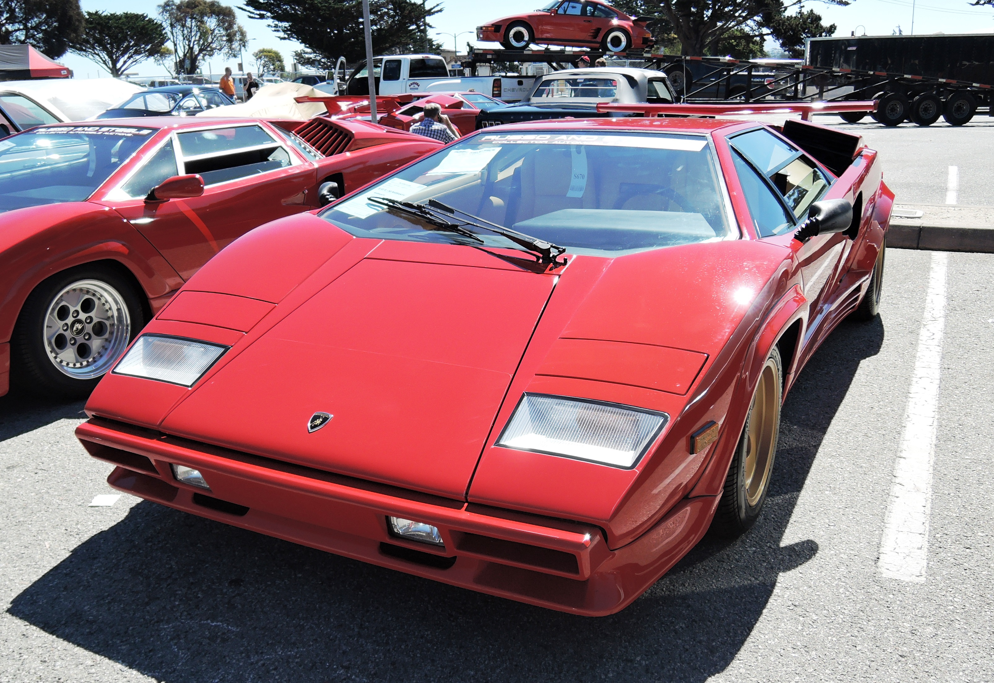 red 1988 Lamborghini Countach 5000QV at Russo & Steele - classic car auctions