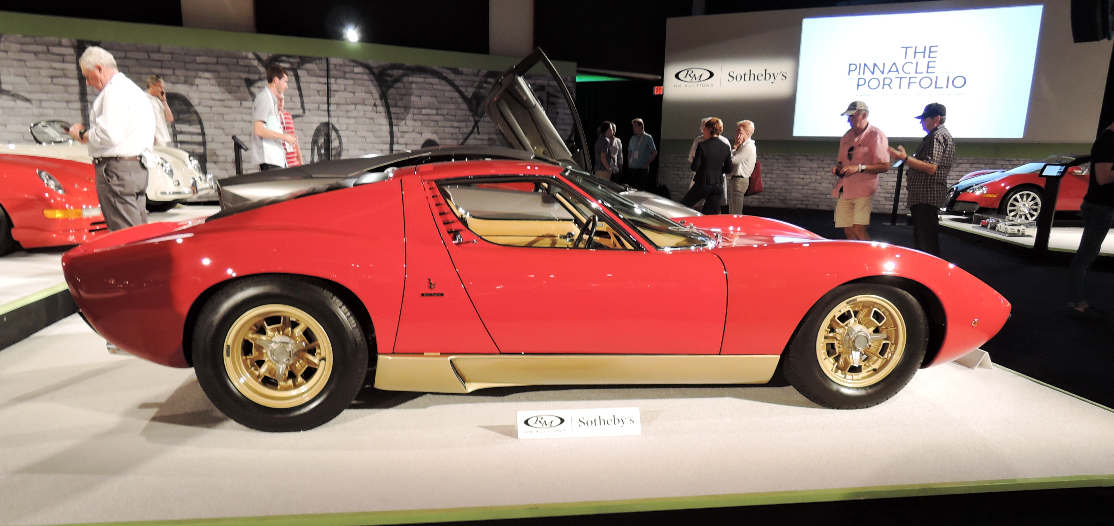 red 1971 Lamborghini Miura P400 SV by Bertone in The Pinnacle Portfolio at RM Sotheby's - classic car auctions