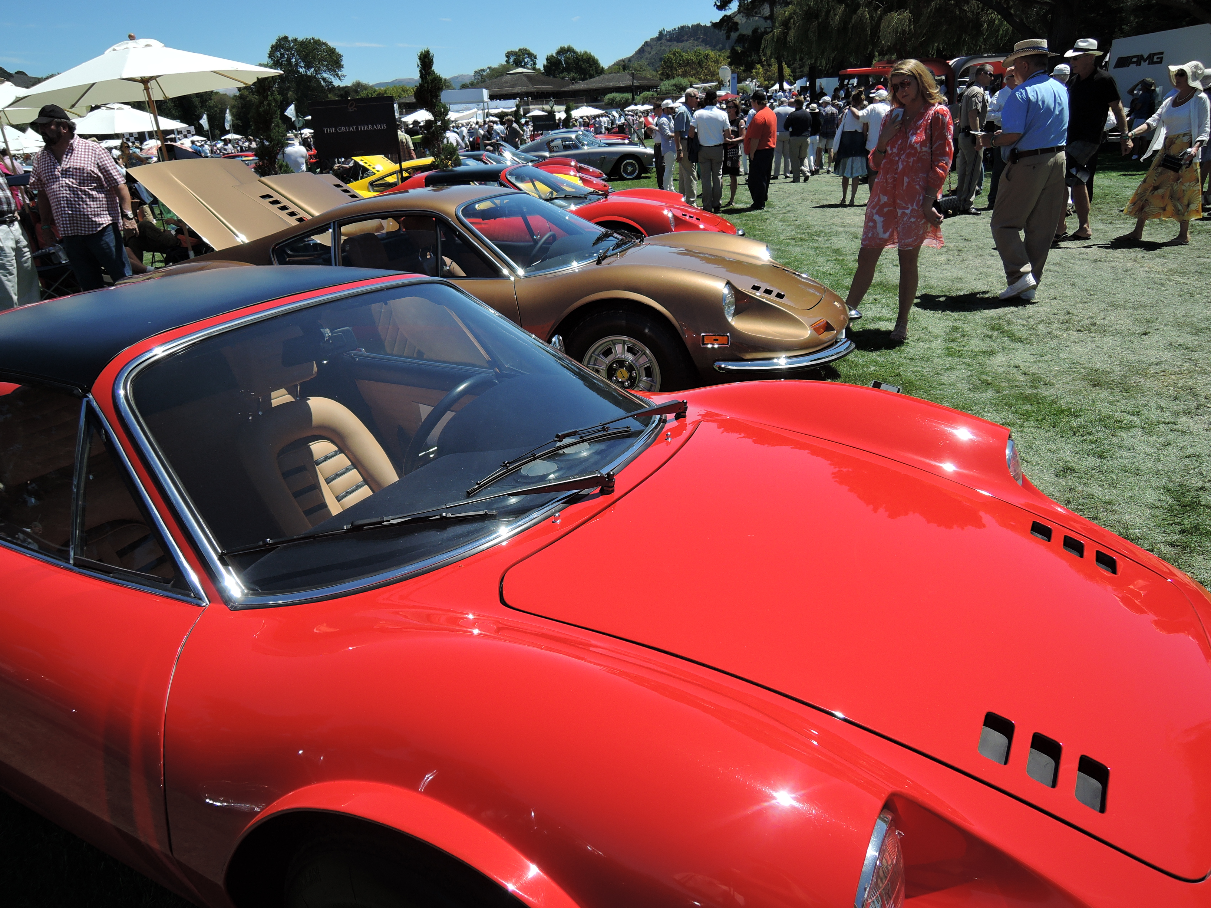 red 1974 Ferrari Dino 246 GTS - the quail