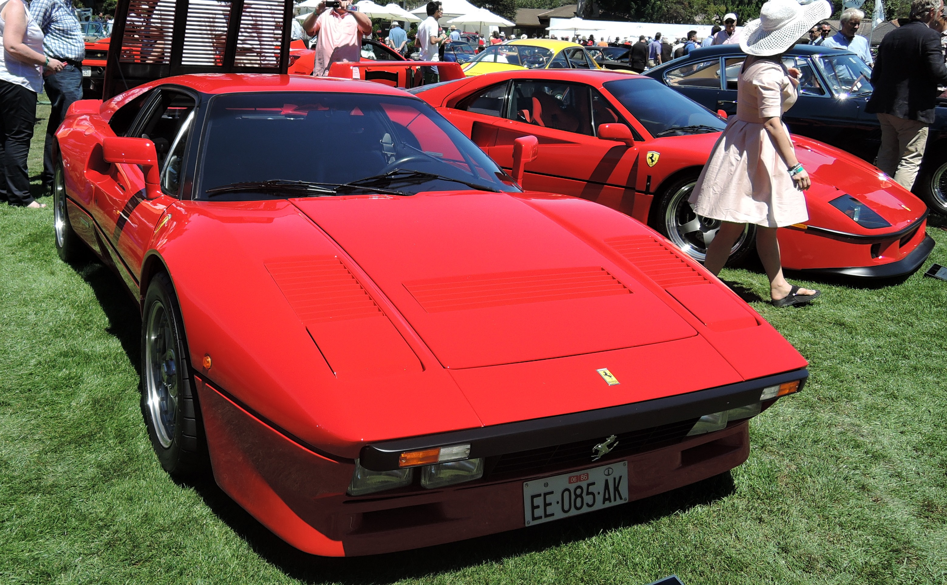 red 1985 Ferrari 288 GTO Supercar - the quail