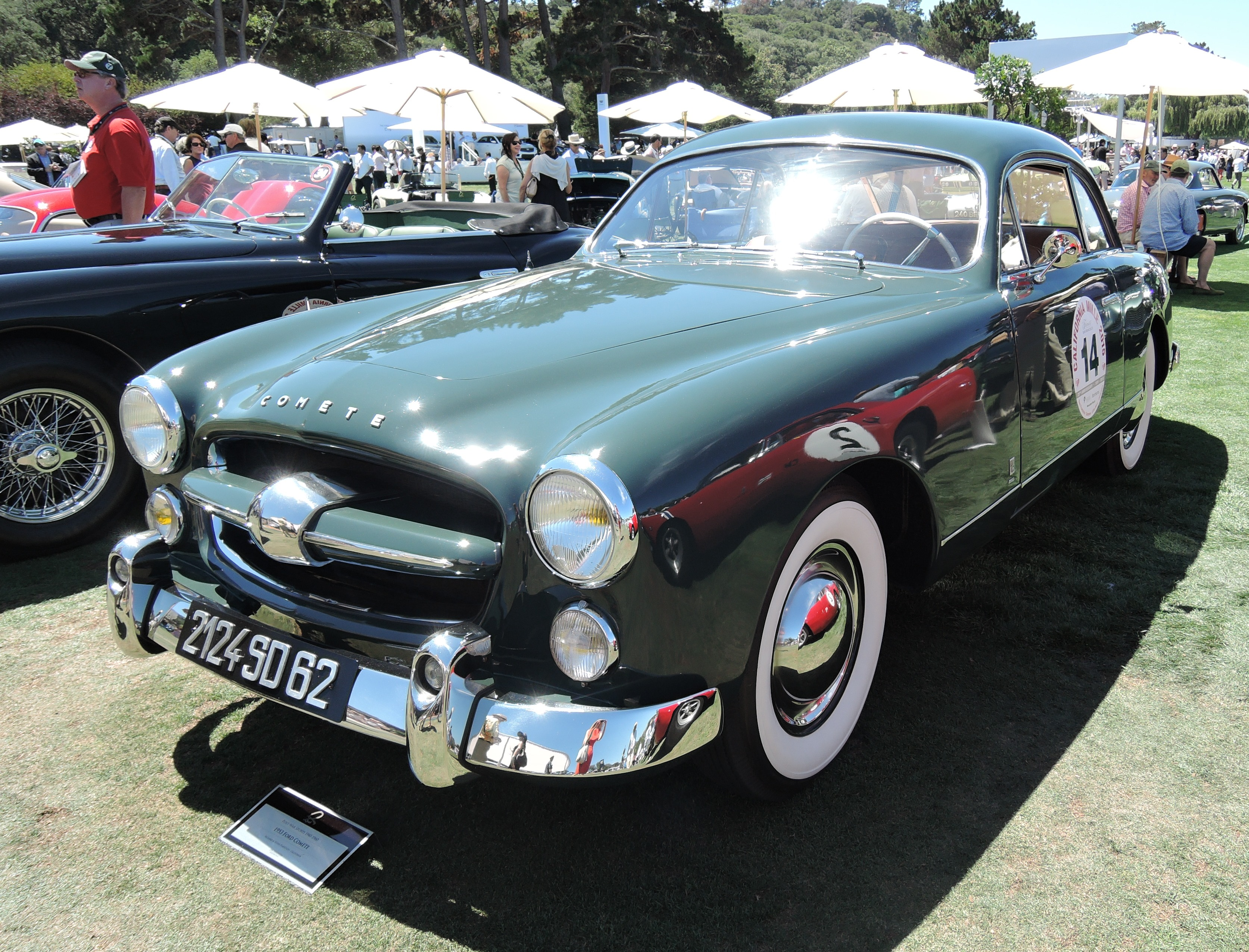 green 1953 Ford Comete - the quail
