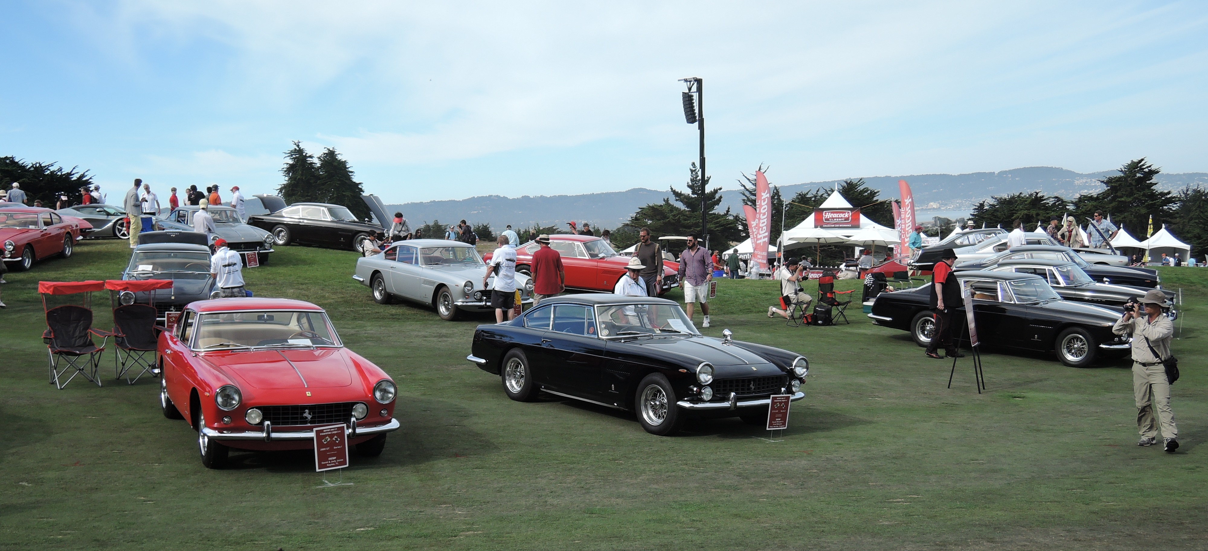 Ferrari 250 GTE's are on the field - concorso italiano