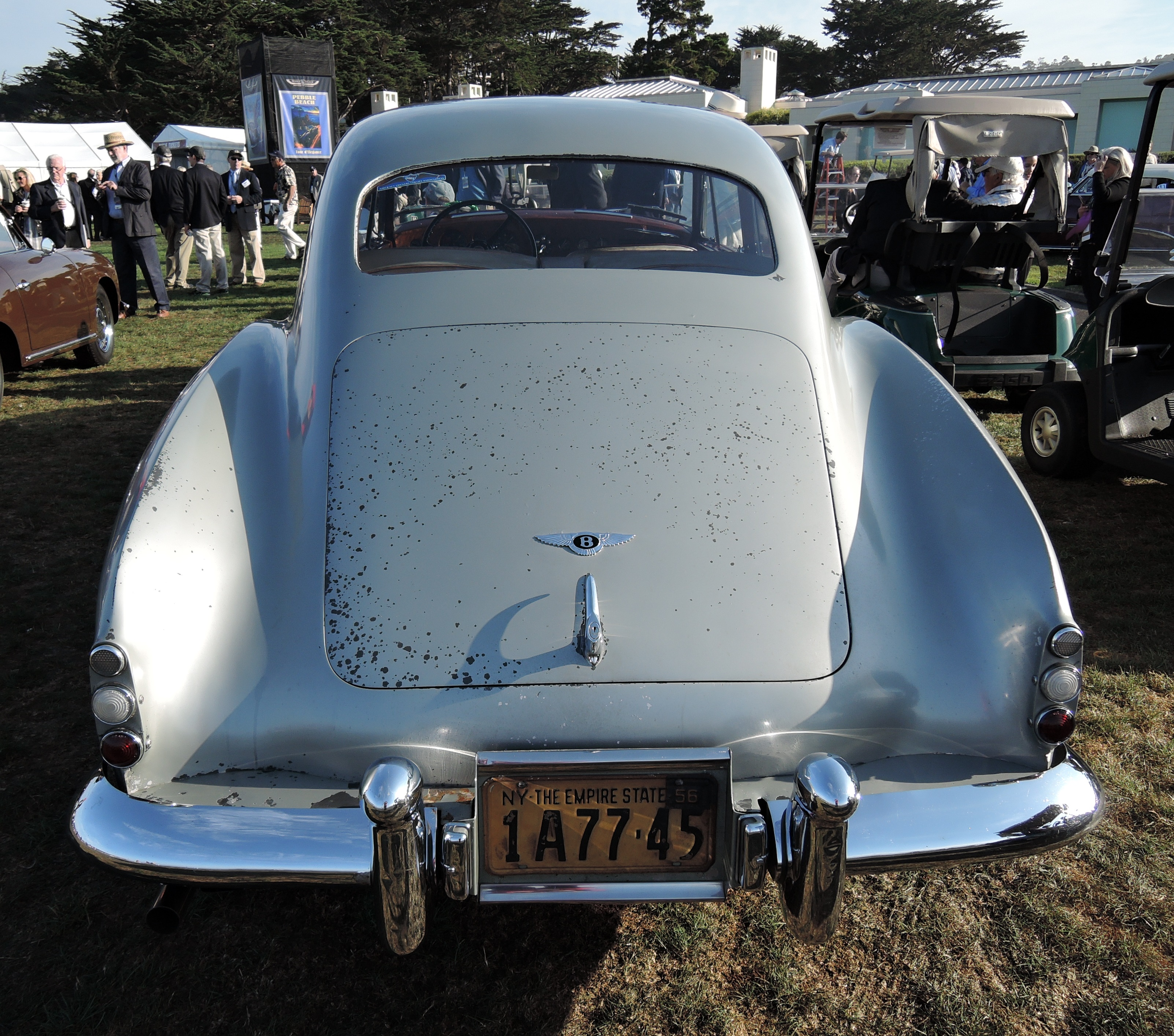 silver 1955 Bentley R-Type Continental H.J. - concours d'elegance