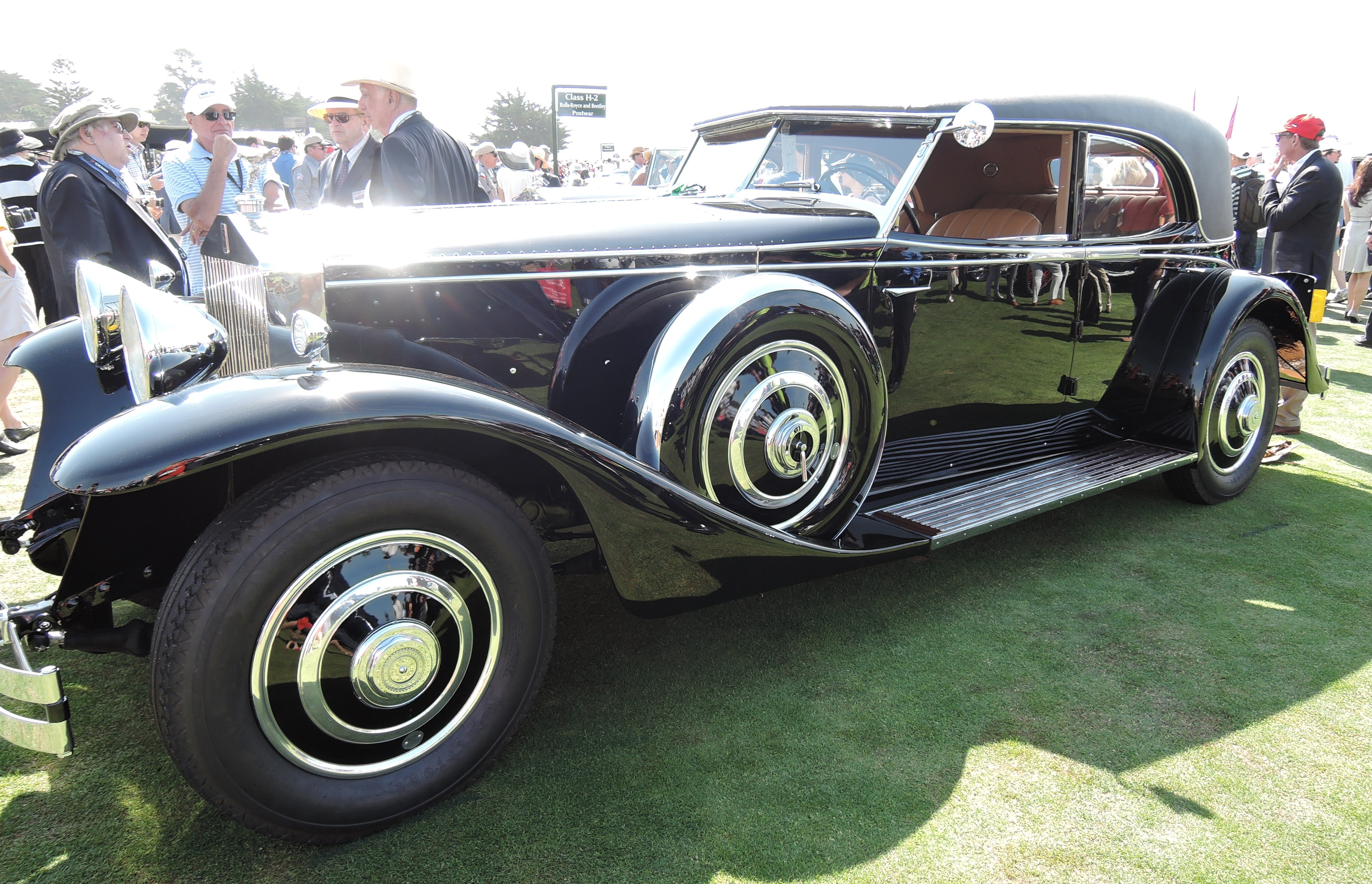 black 1933 Rolls-Royce Phantom II Brewster Special Permanent Newmarket - concours d'elegance