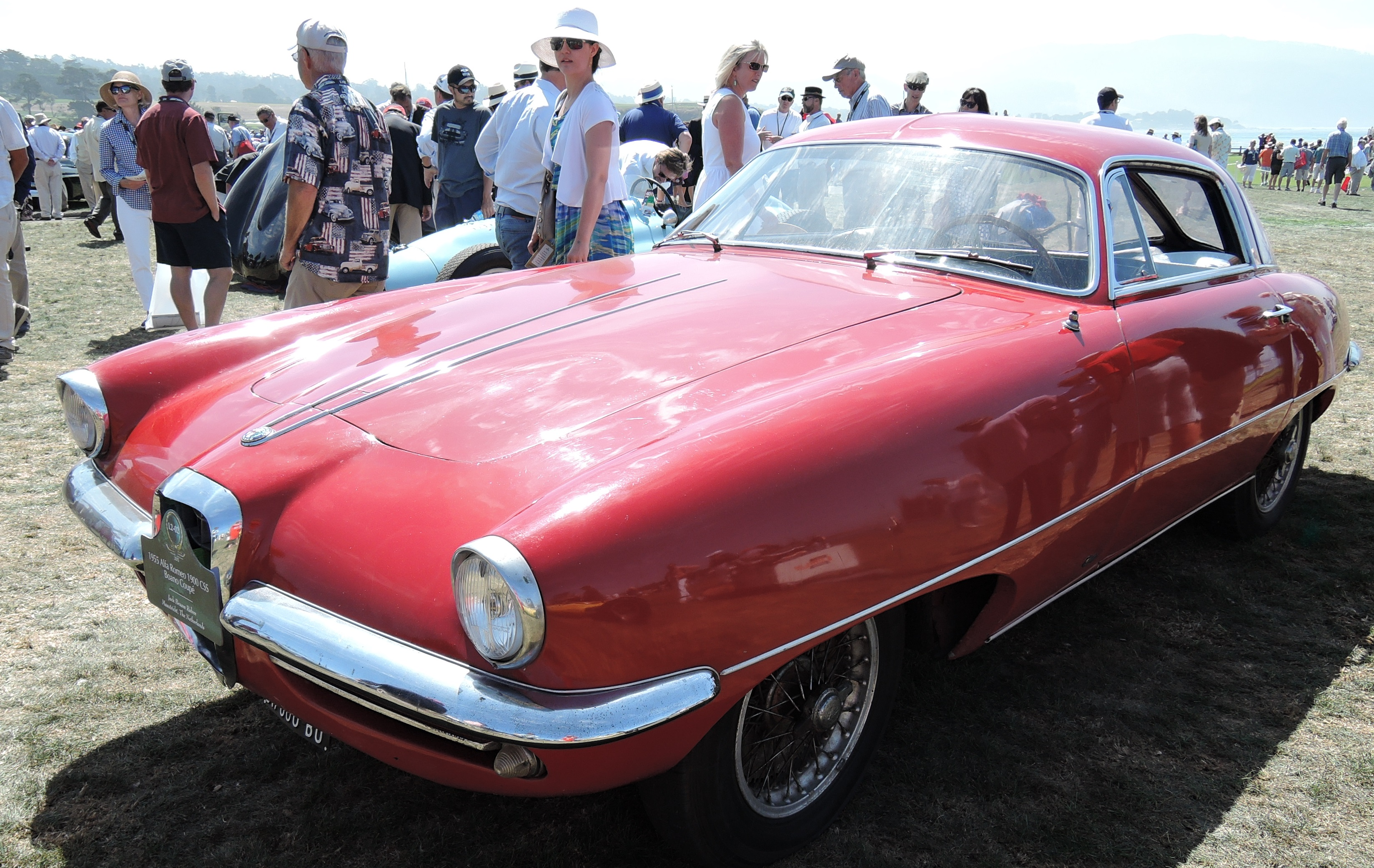 red 1955 Alfa Romeo 1900 CSS Boano Coupe - concours d'elegance
