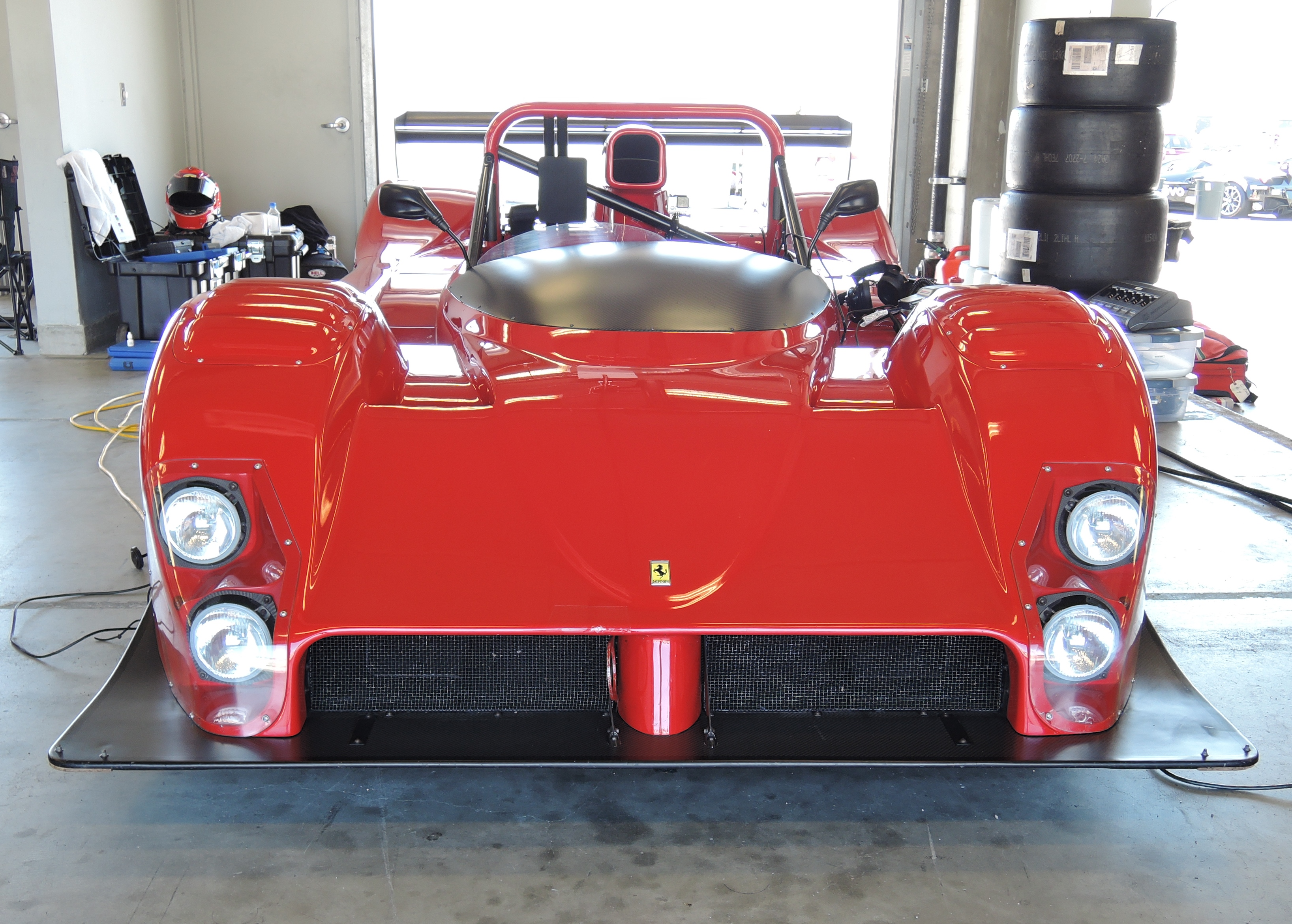 red ferrari 333 sp - ferrari club at laguna seca
