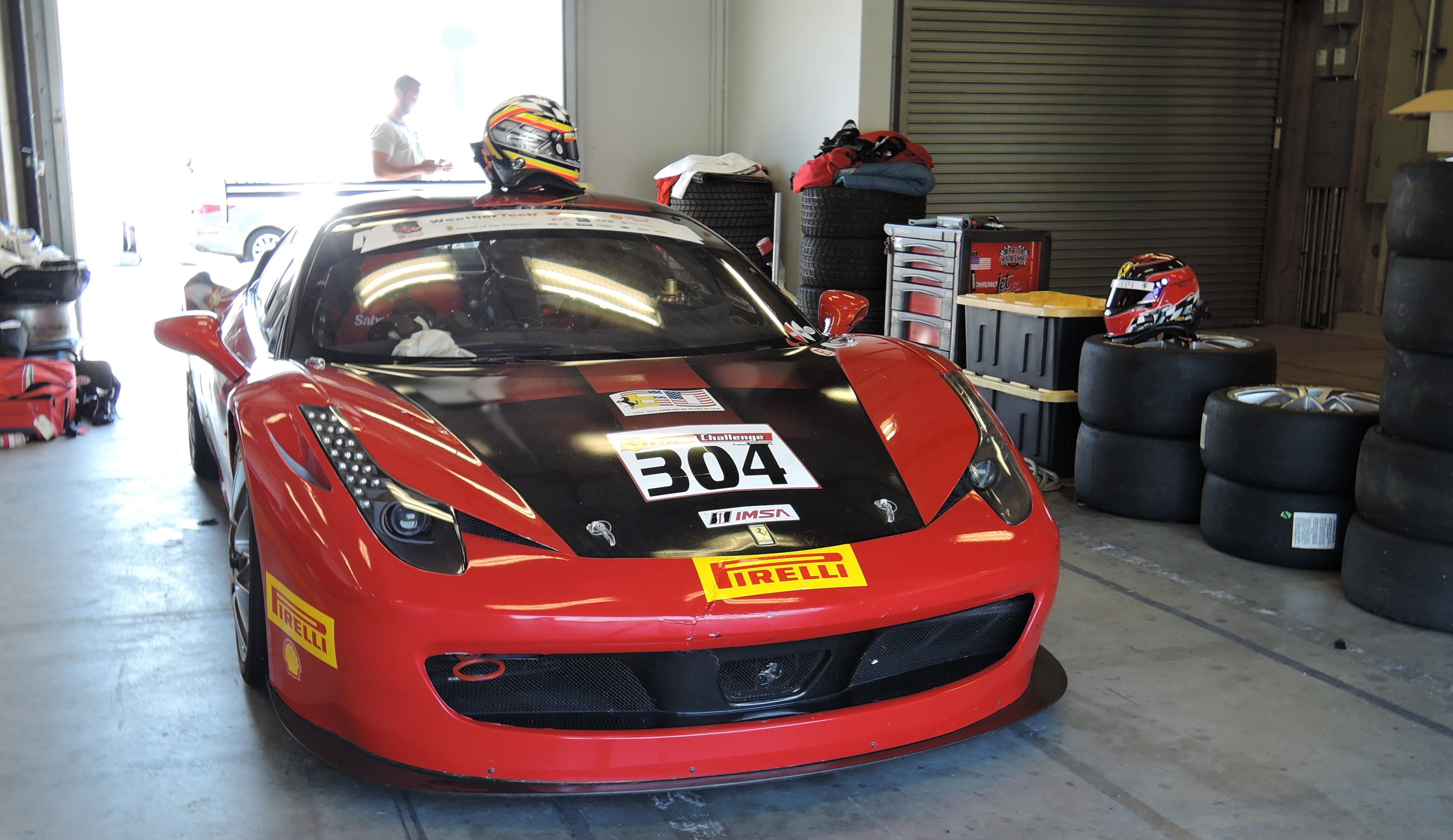 red 458 Challenge car - ferraric club at laguna seca