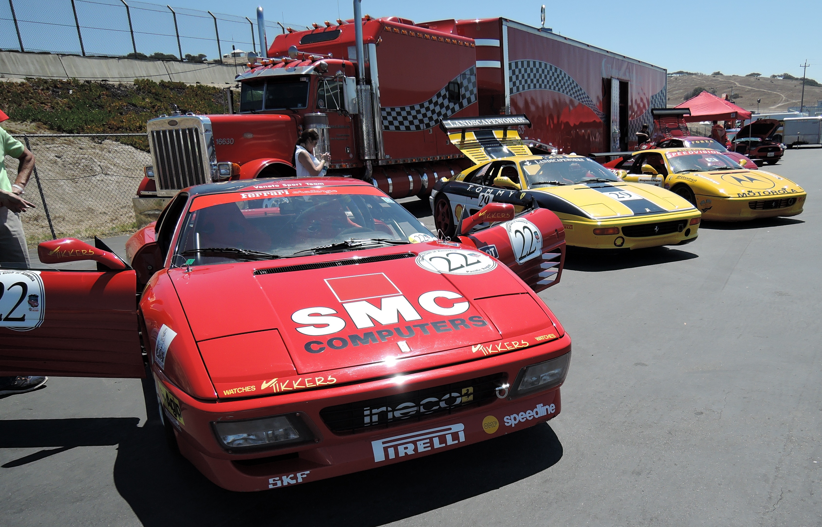 ferrari 348 and 355 Challenge cars - ferrari club at laguna seca
