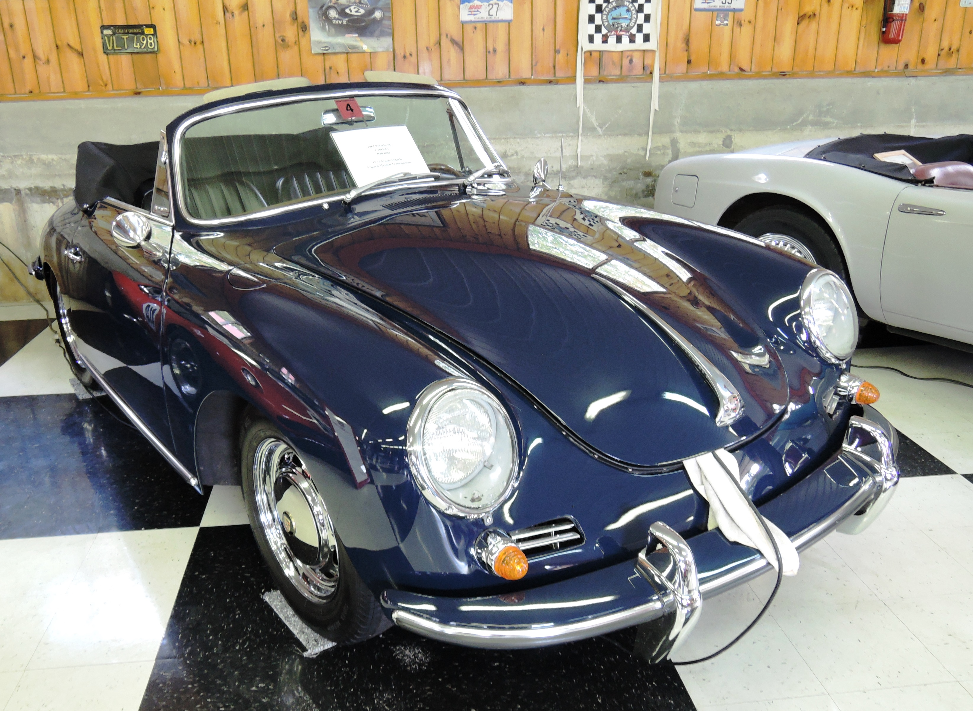 bali blue 1964 Porsche SC Cabriolet - car collection in nh