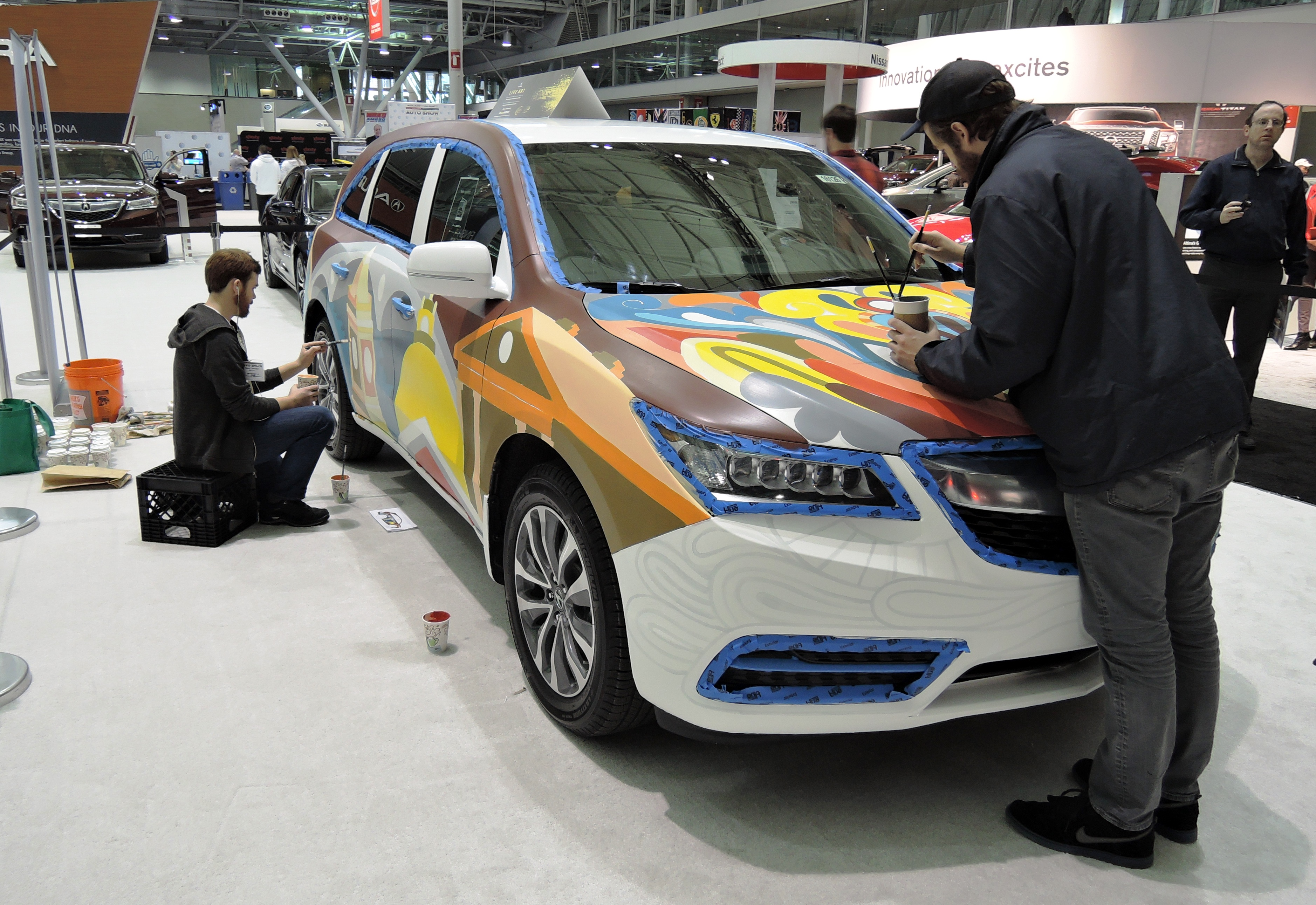 hand painted Acura - new England auto show