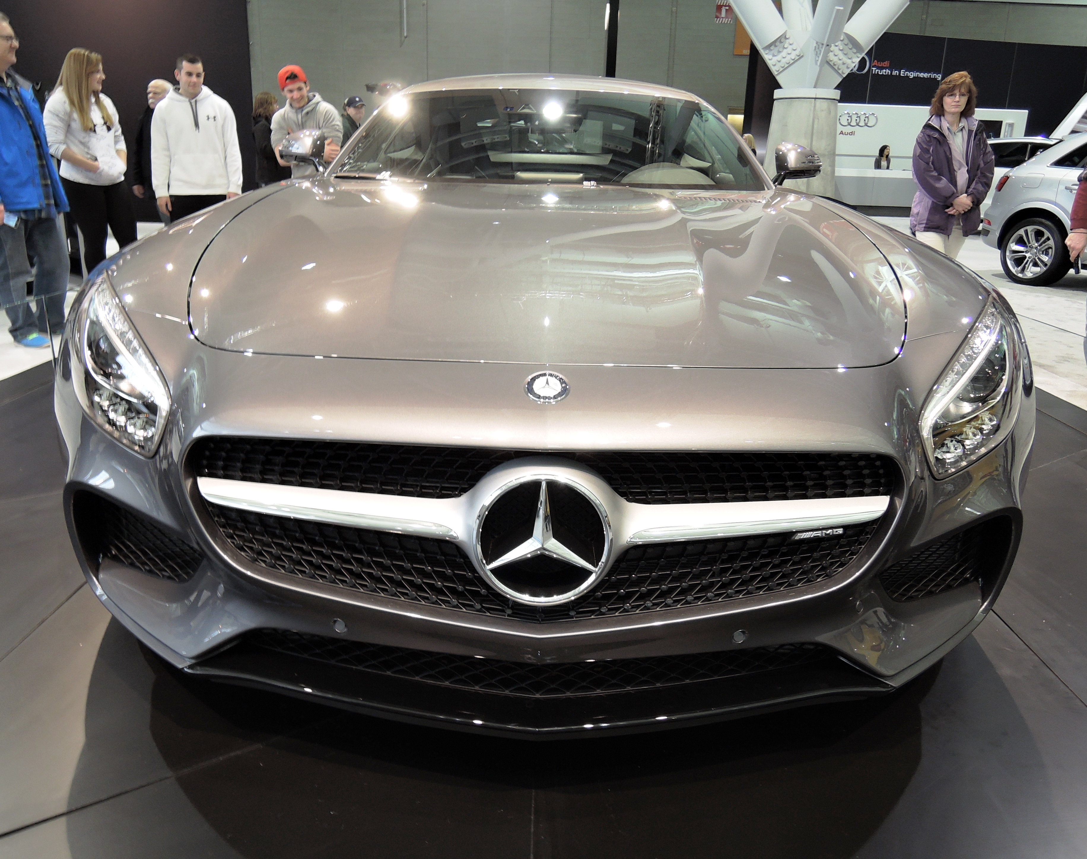 silver 2016 Mercedes-Benz AMG GT - new england auto show