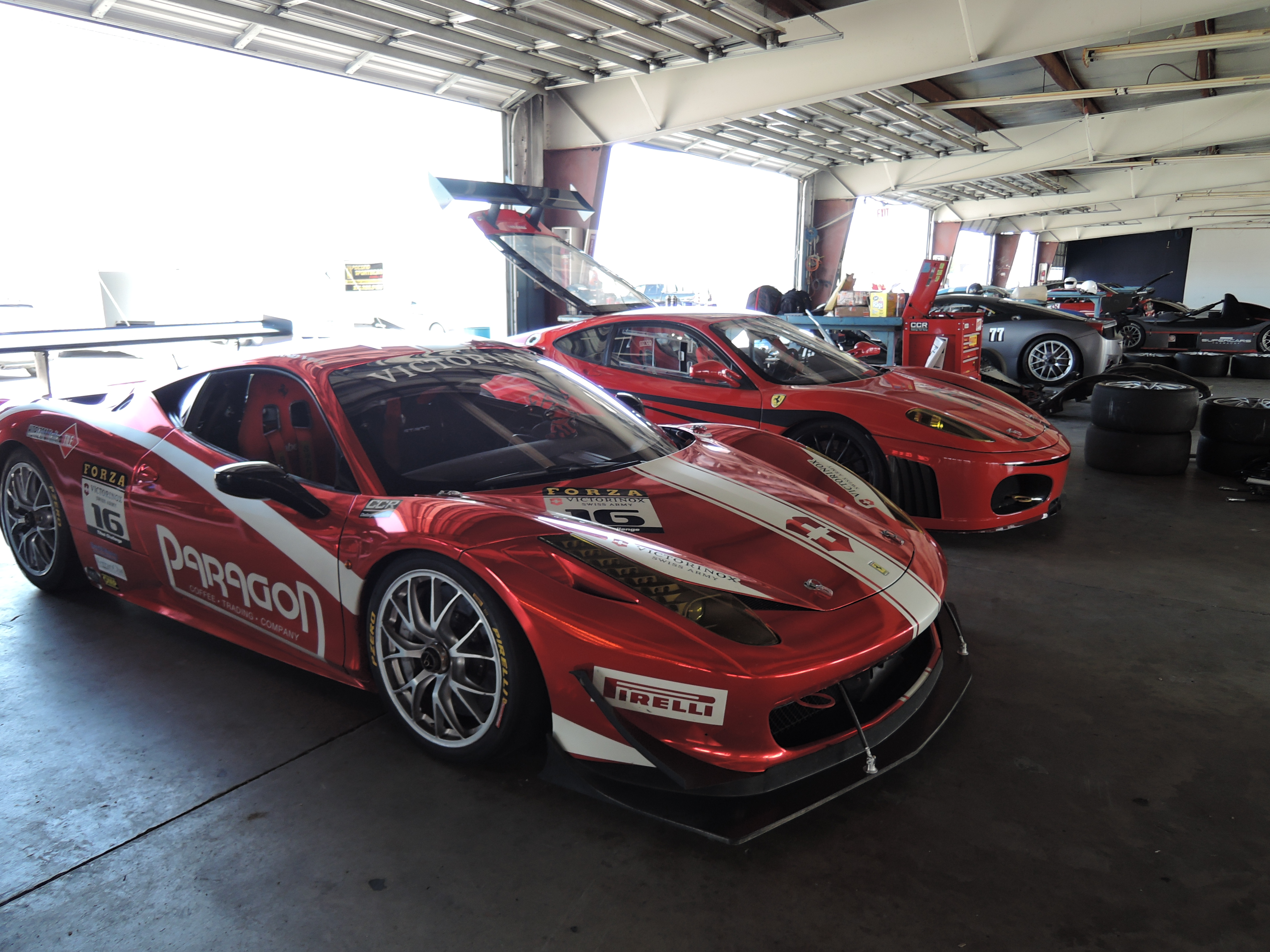 ferrari 458 and 430 challenge cars watkins glen