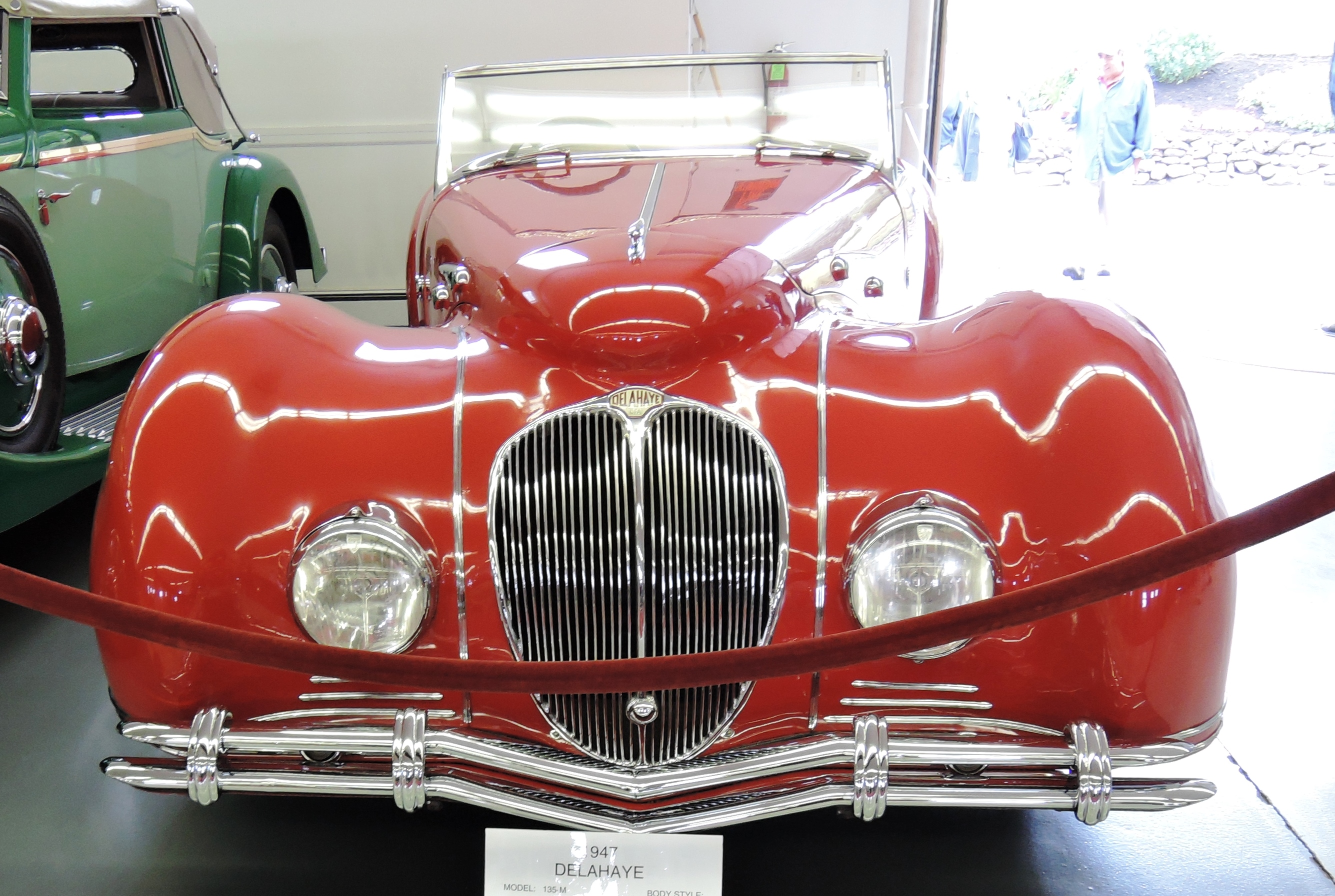 red 1947 Delahaye 135-M Roadster; This is 1 of only 5 Figoni & Filaschi Delahayes - bahre car collection