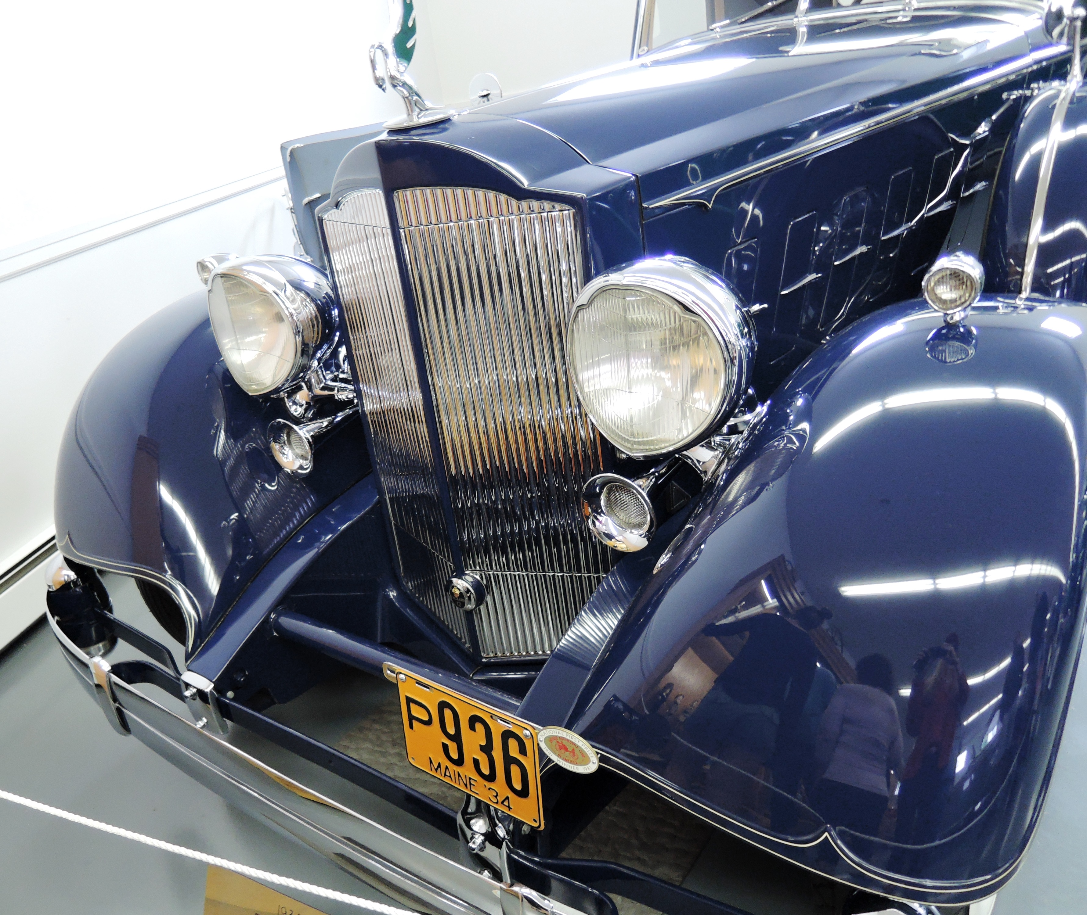 blue 1934 Packard Twelve Stationary Coupe - bahre car collection