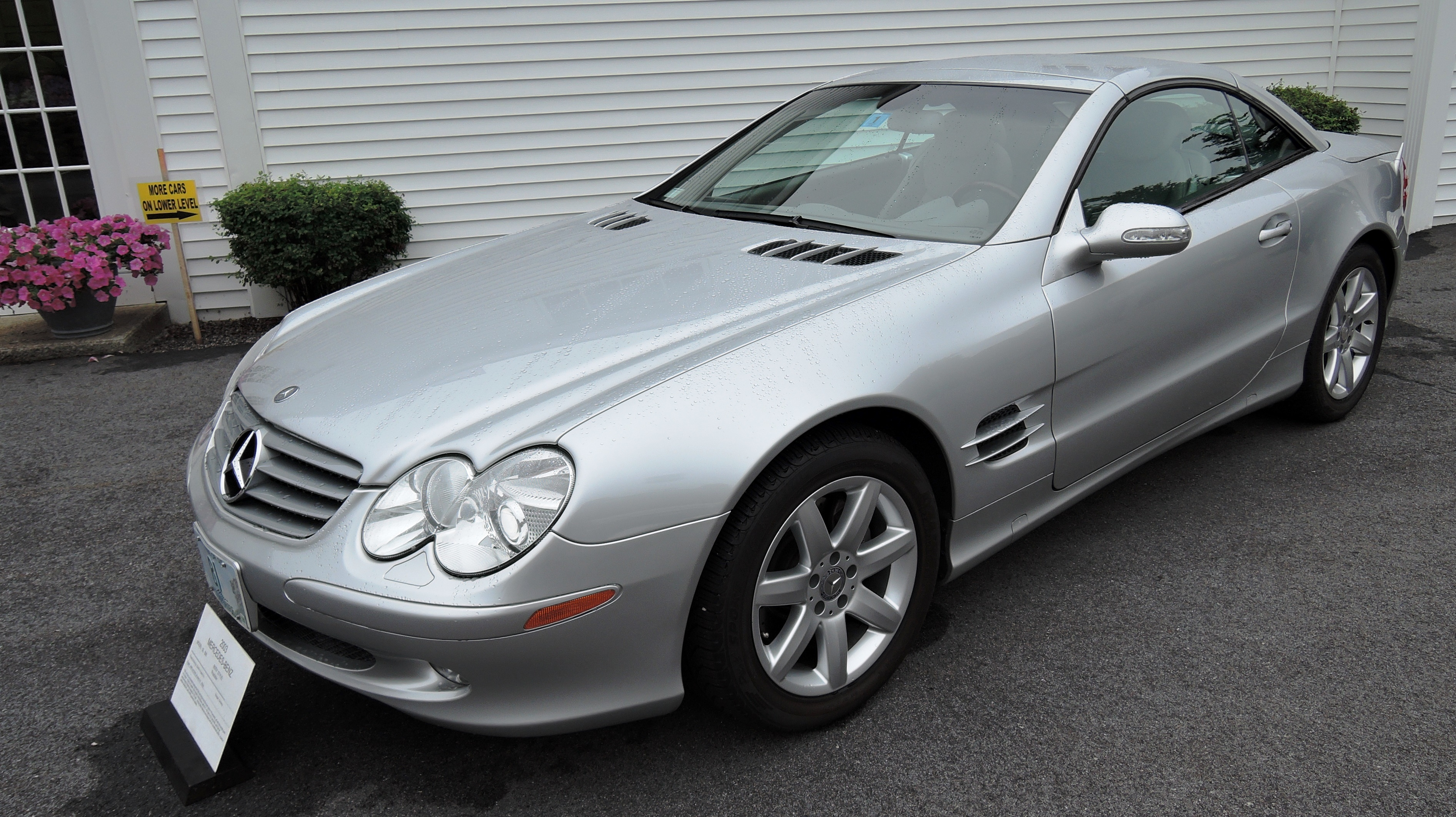 silver 2003 Mercedes Benz 500 SL Roadster with retractable hardtop - bahre car collection