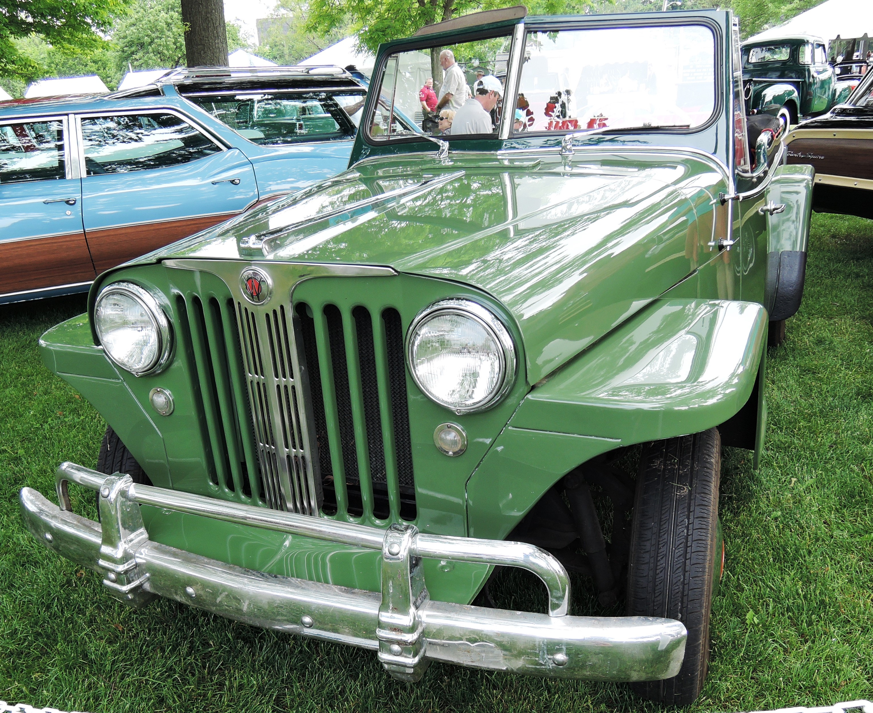 green 1949 Willys Overland Jeepster - greenwich concours