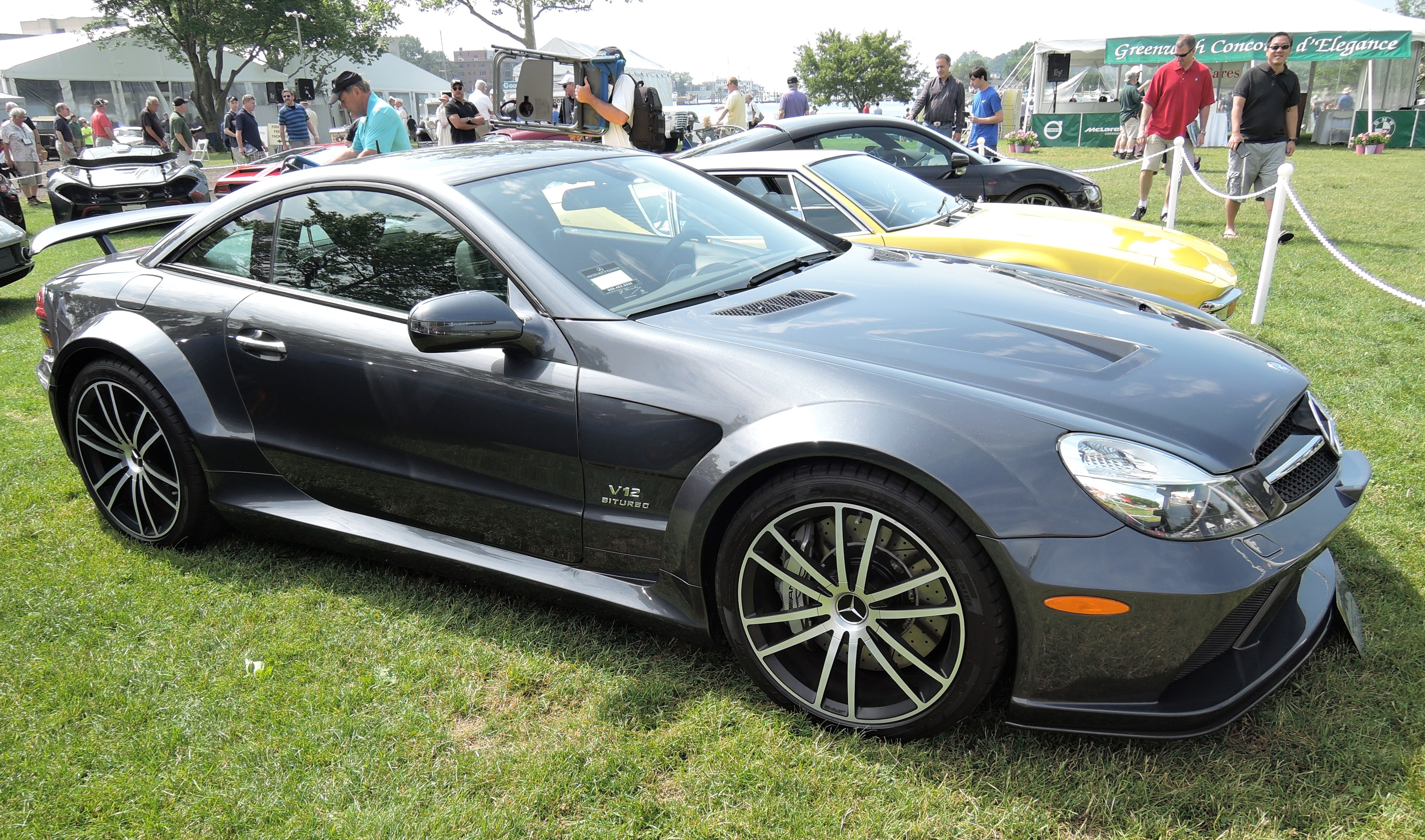 black 2009 Mercedes-Benz SL 65 Black Series - greenwich concours