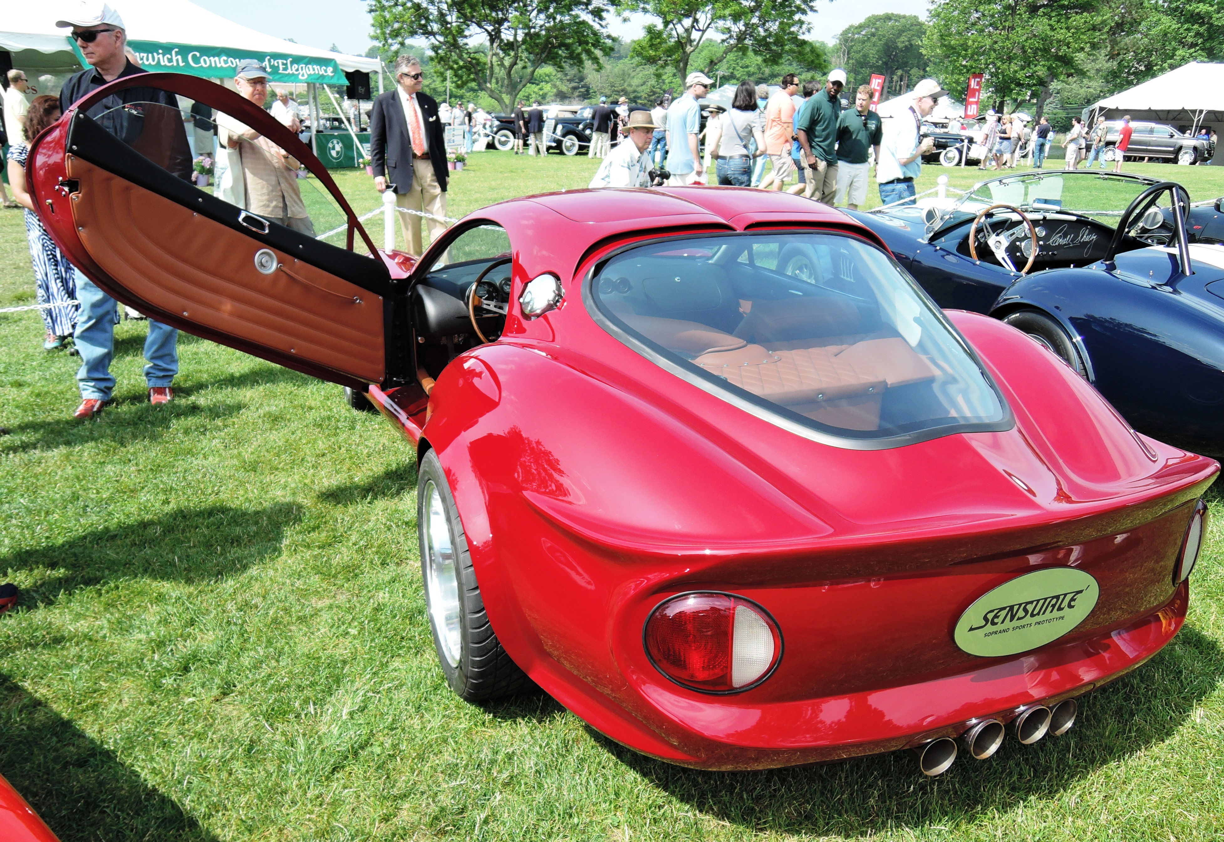 red 1965 Sensuale Super Spyder - greenwich concours
