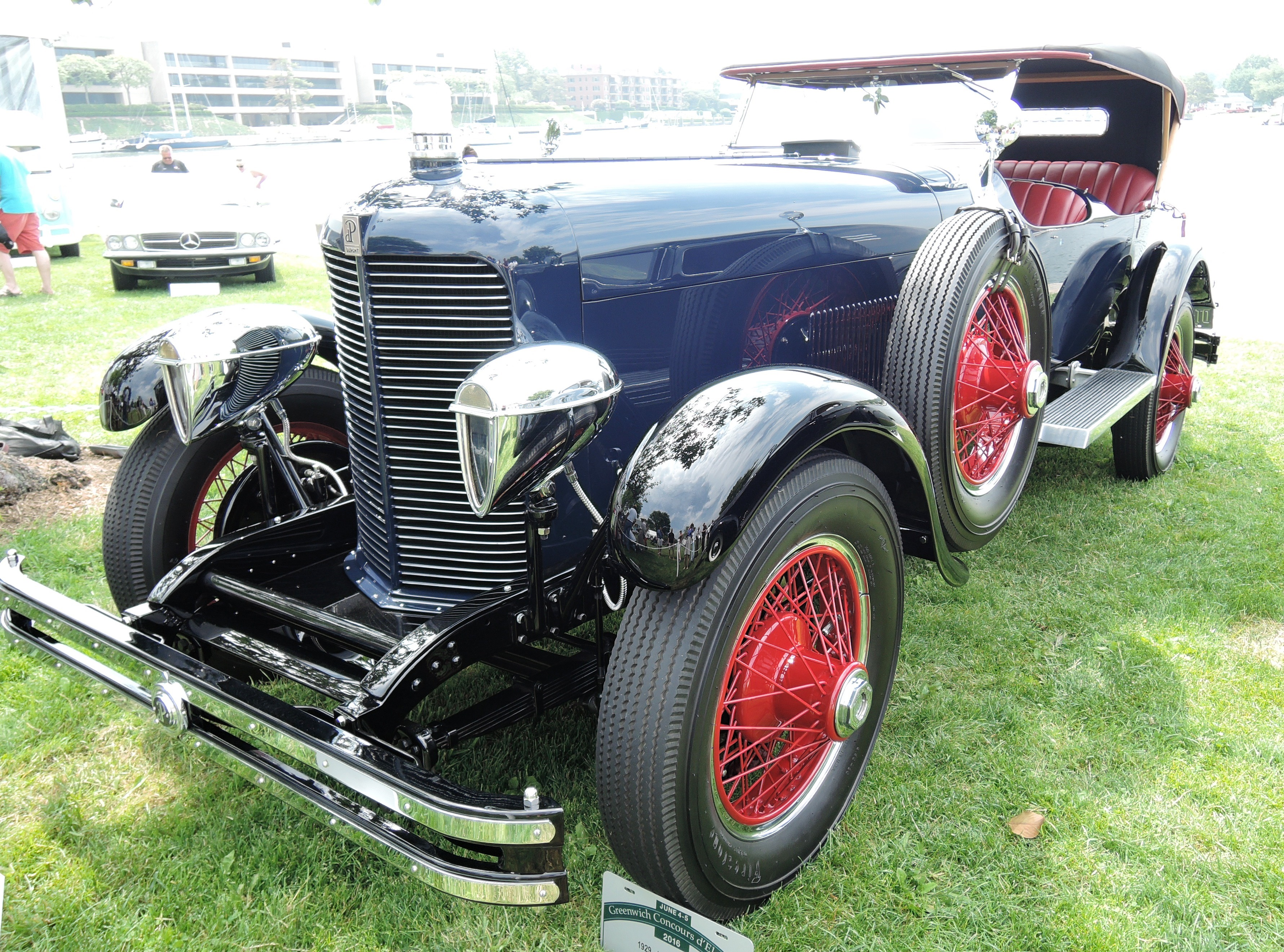 blue 1929 duPont Model G - greenwich concours