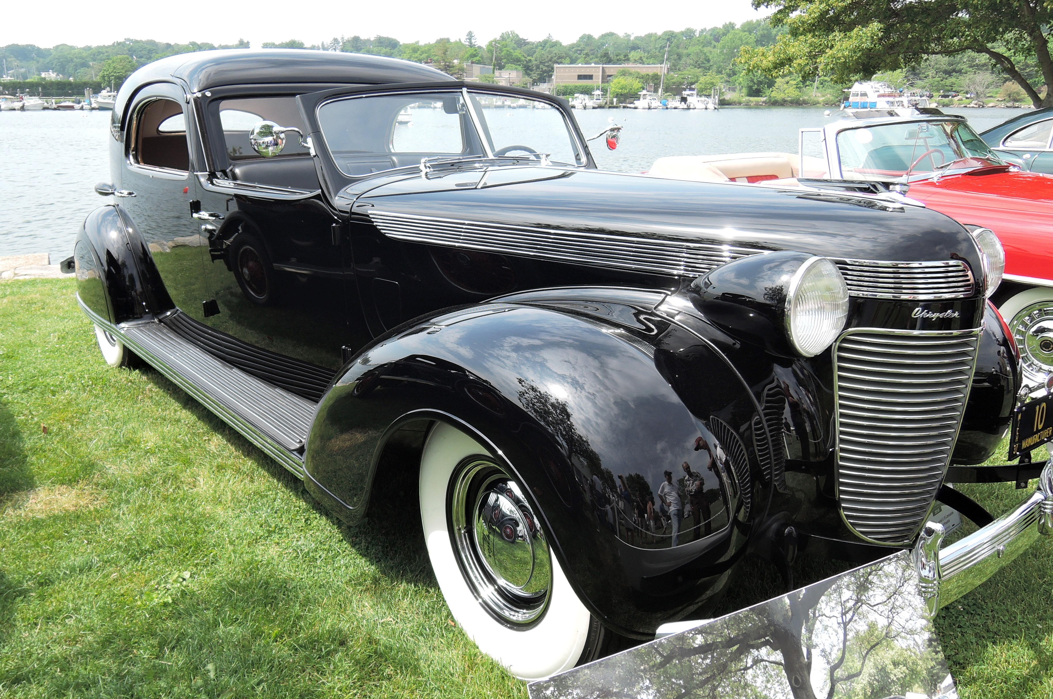 black 1937 Chrysler Imperial C-15 Limosine - greenwich concours