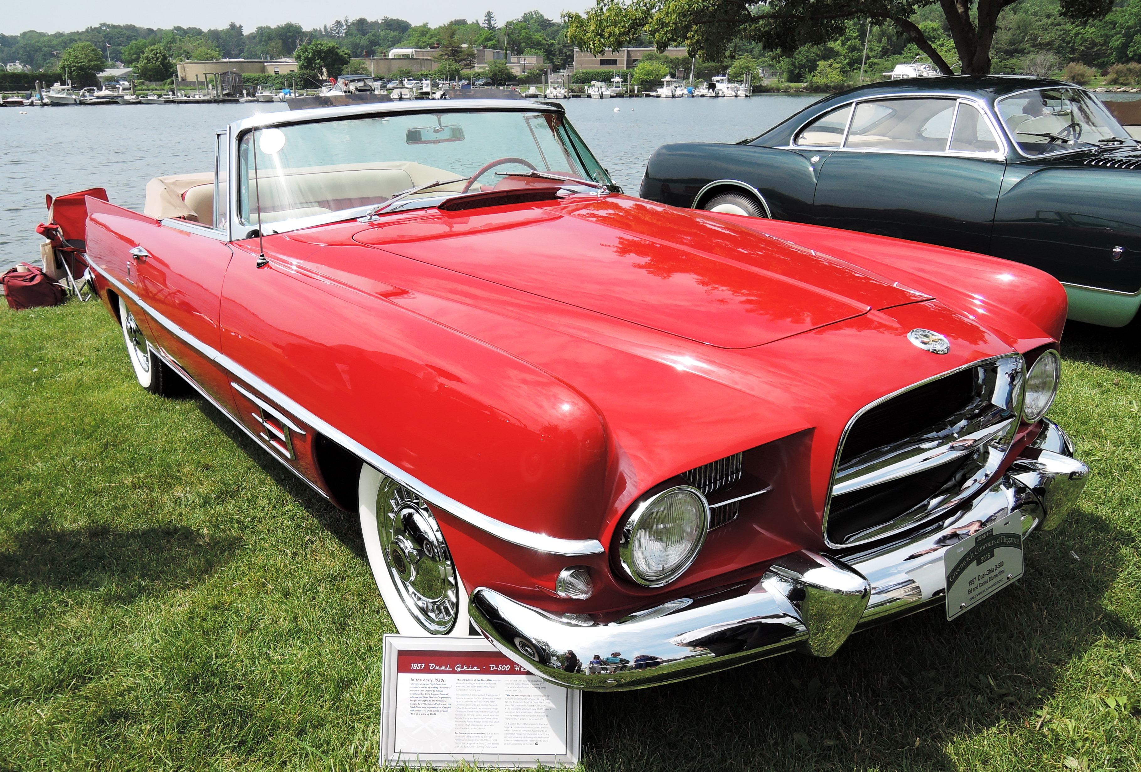 red 1957 Dual-Ghia D-500 - greenwich concours