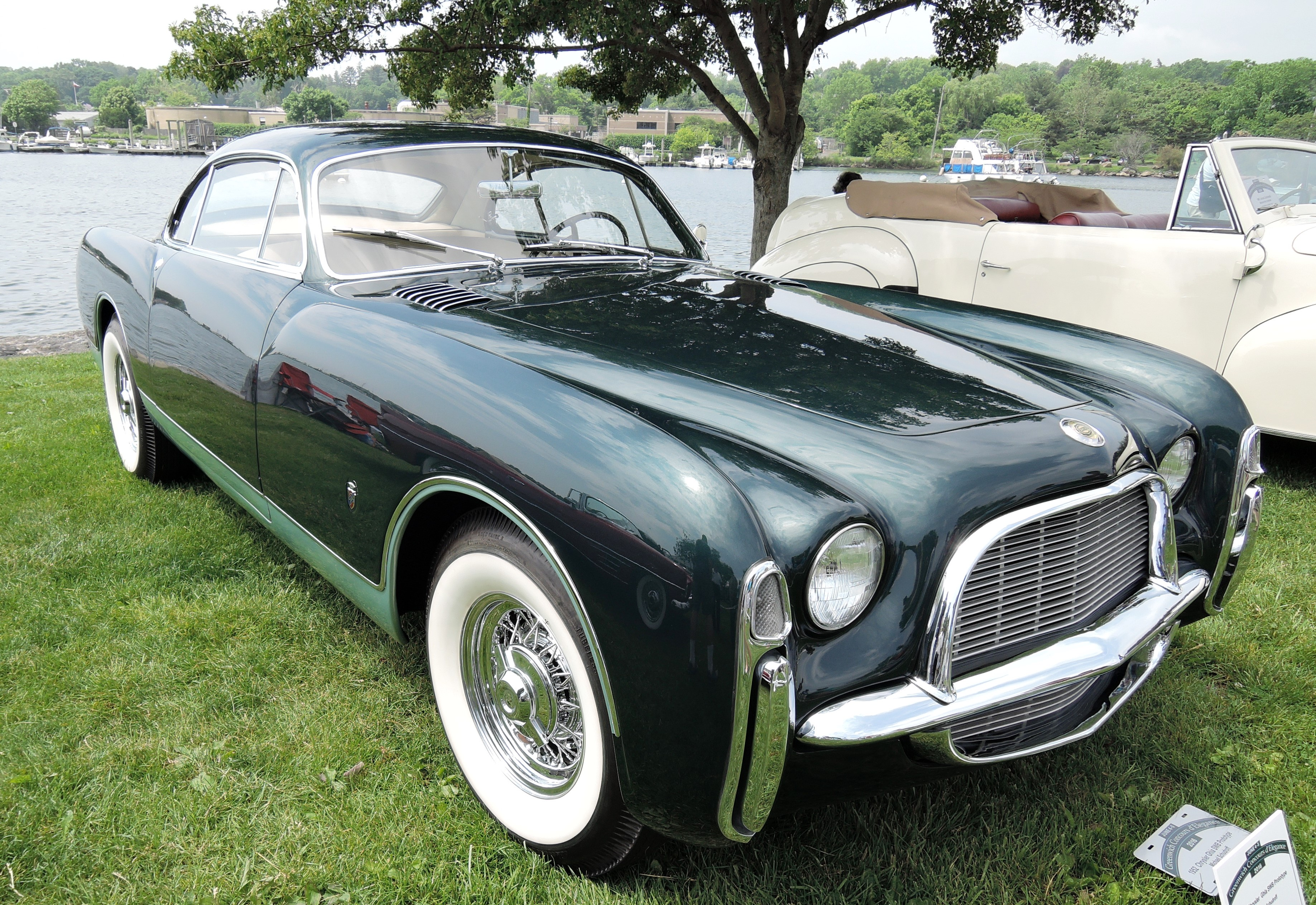 green 1952 Chrysler Ghia SWB Prototype - greenwich concours