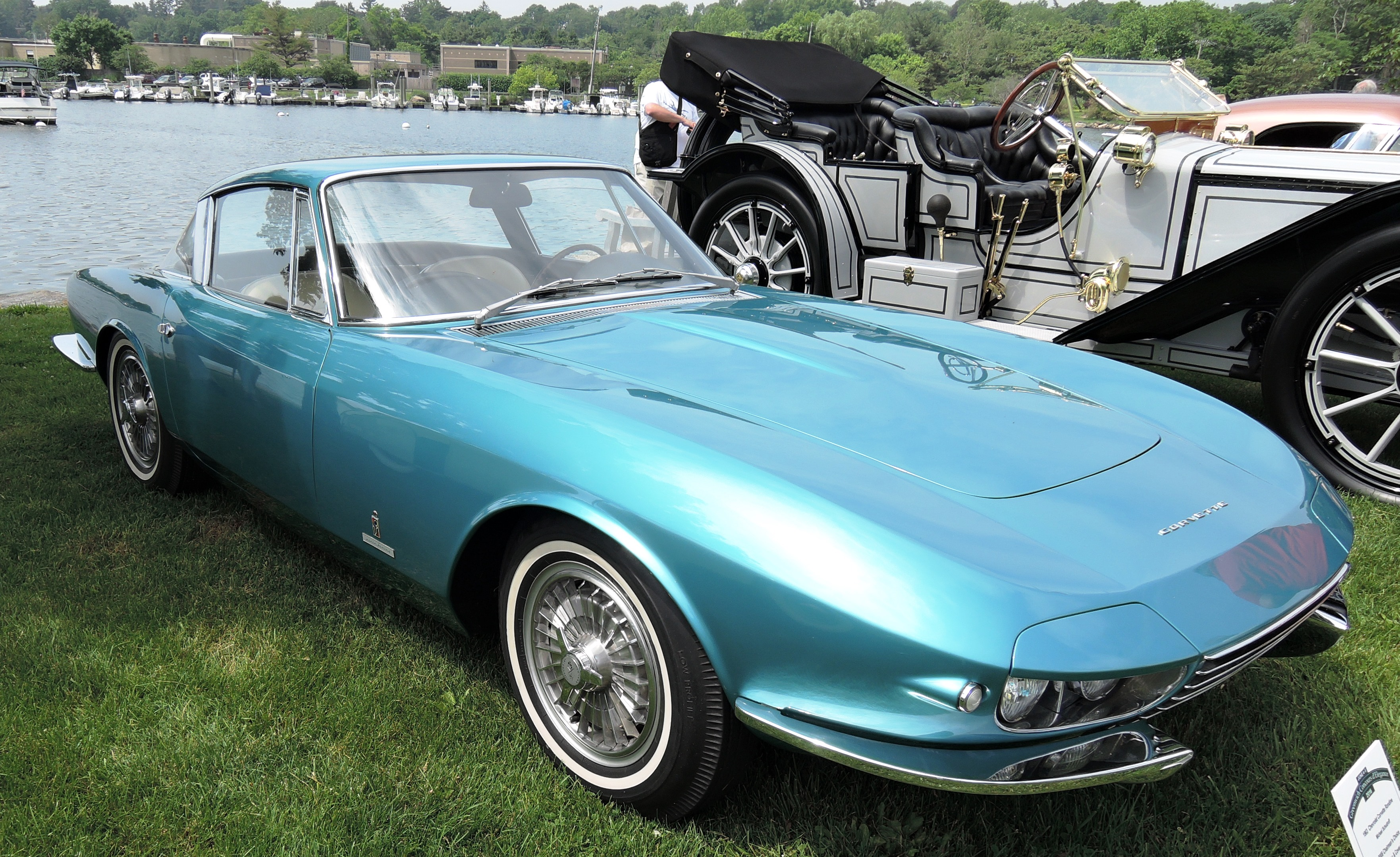 teal blue 1963 Chevrolet Corvette Rondine Coupe - greenwich concours