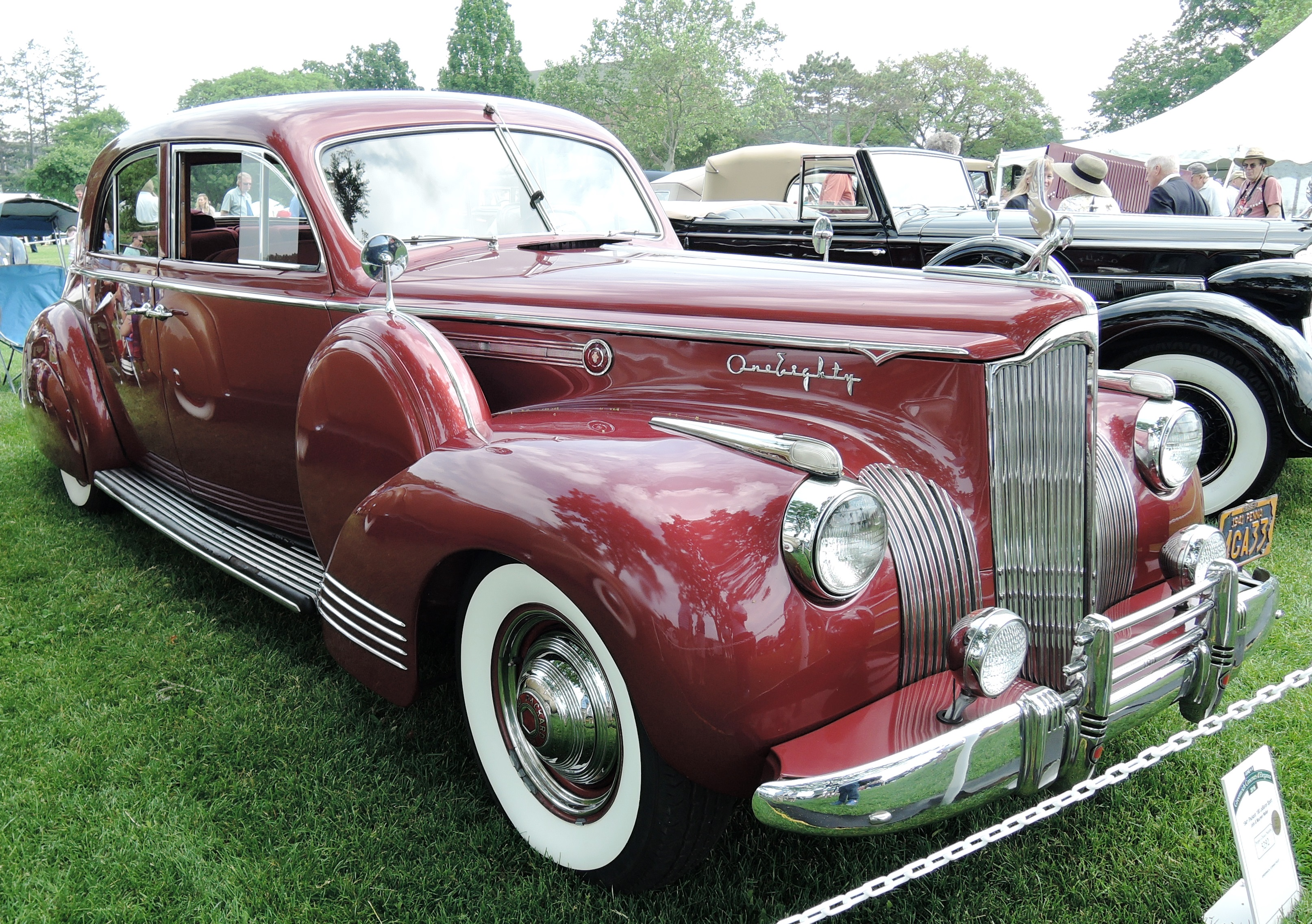 red 1941 Packard 180 LeBaron Sport - greenwich concours
