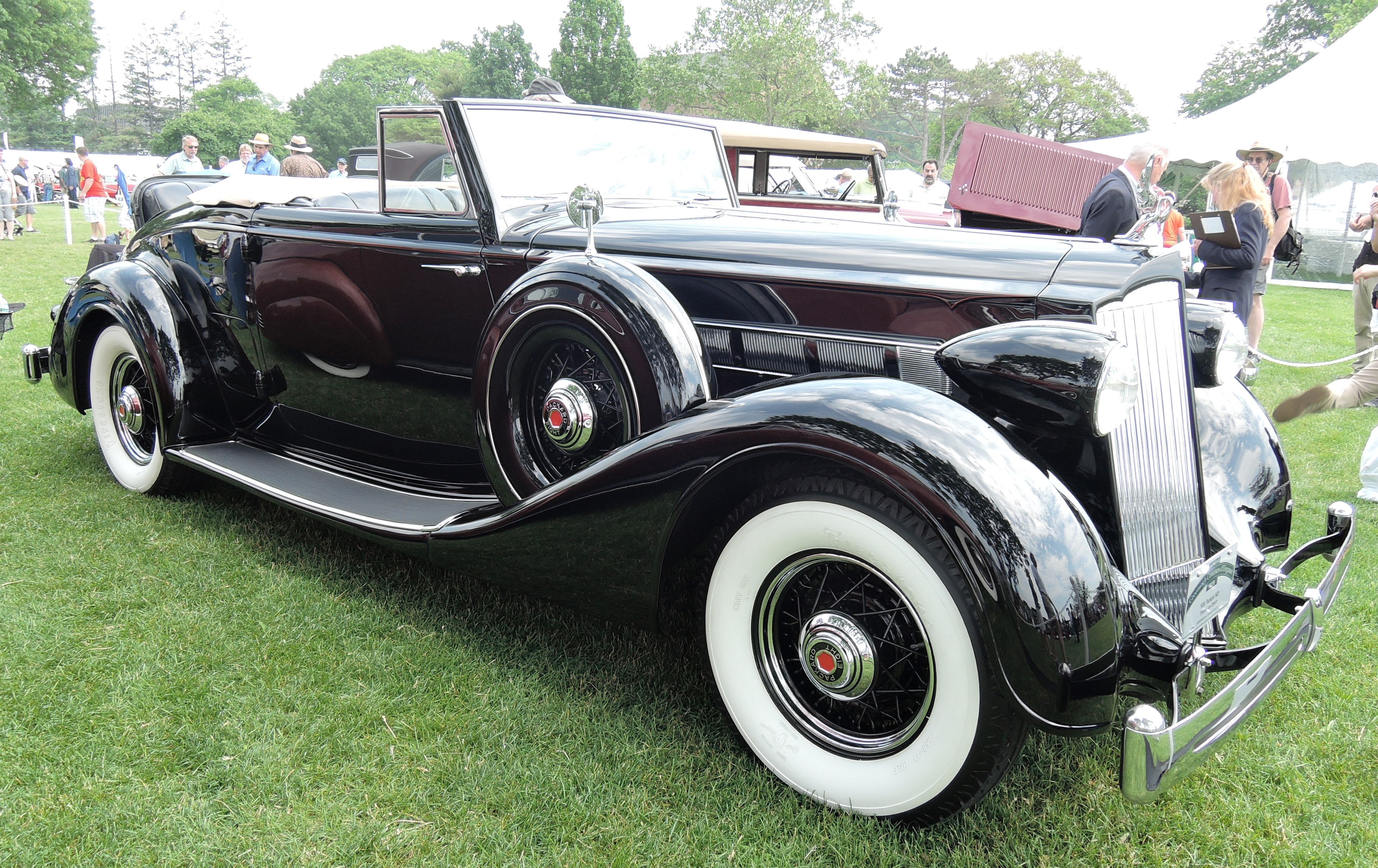 black 1936 Packard 1401- greenwich concours