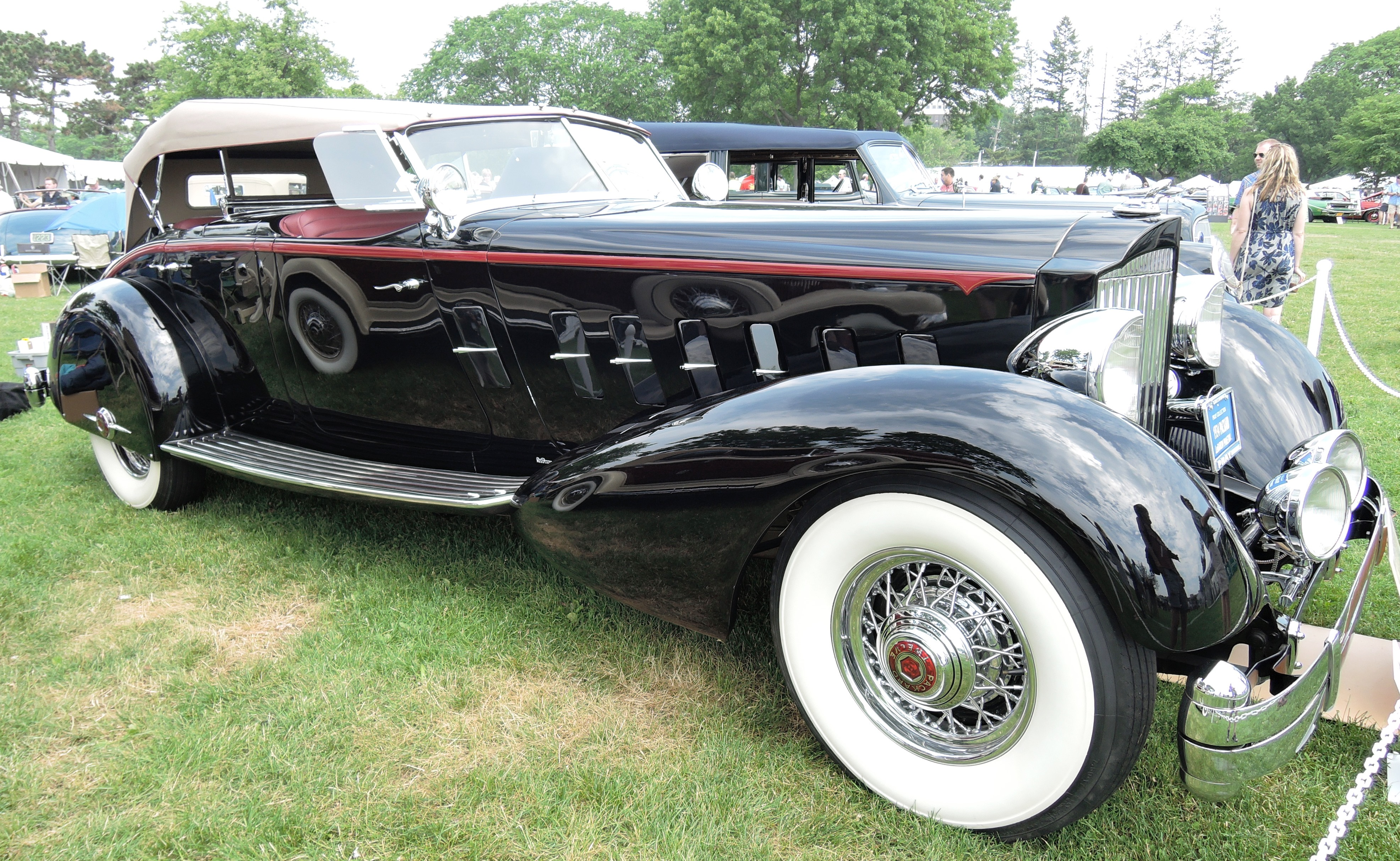 black 1934 Packard 1108 - greenwich concours