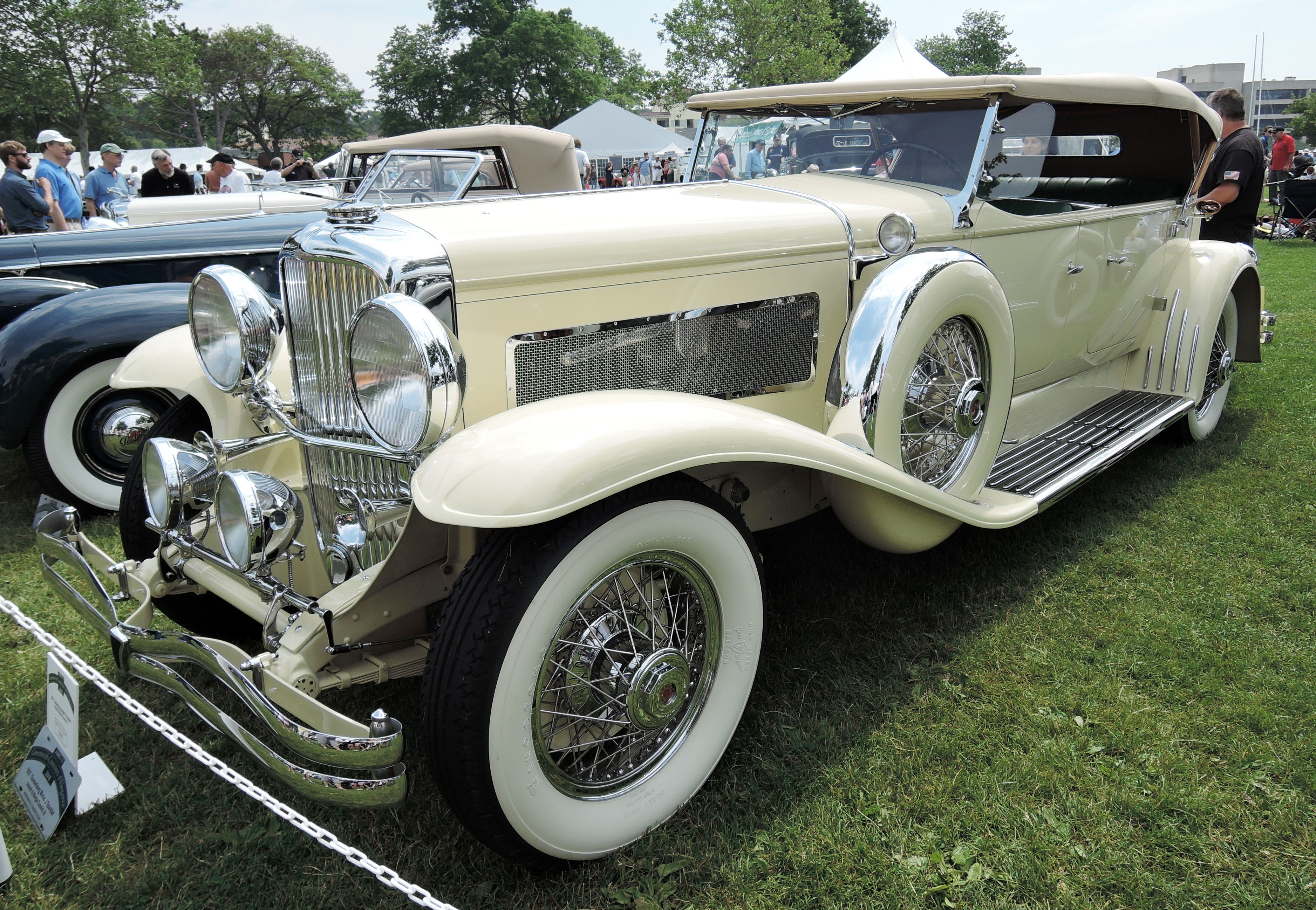 off white 1931 Duesenberg Model J Tourster Convertible - greenwich concours
