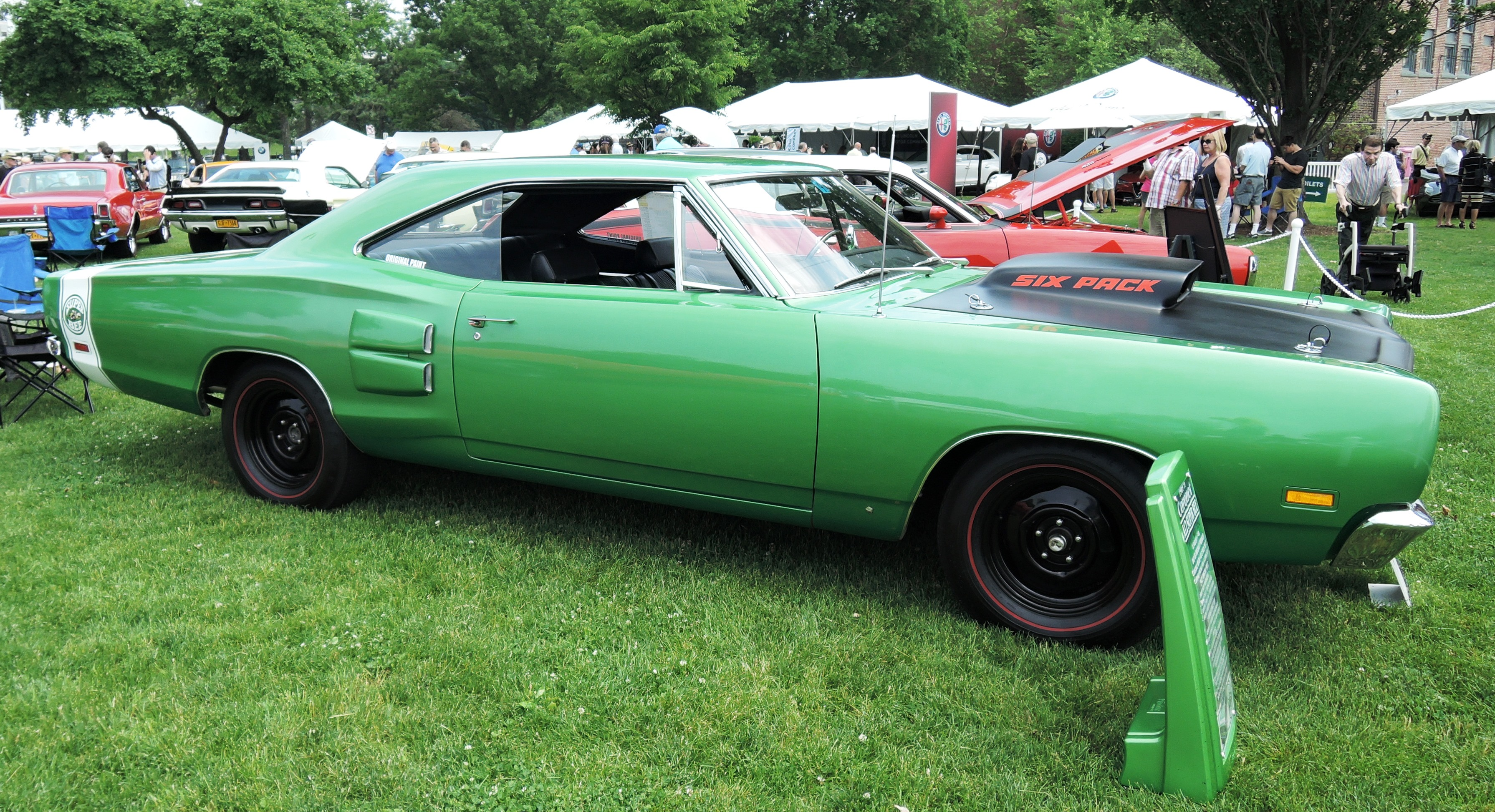 green 1969 1/2 Dodge Super Bee - greenwich concours