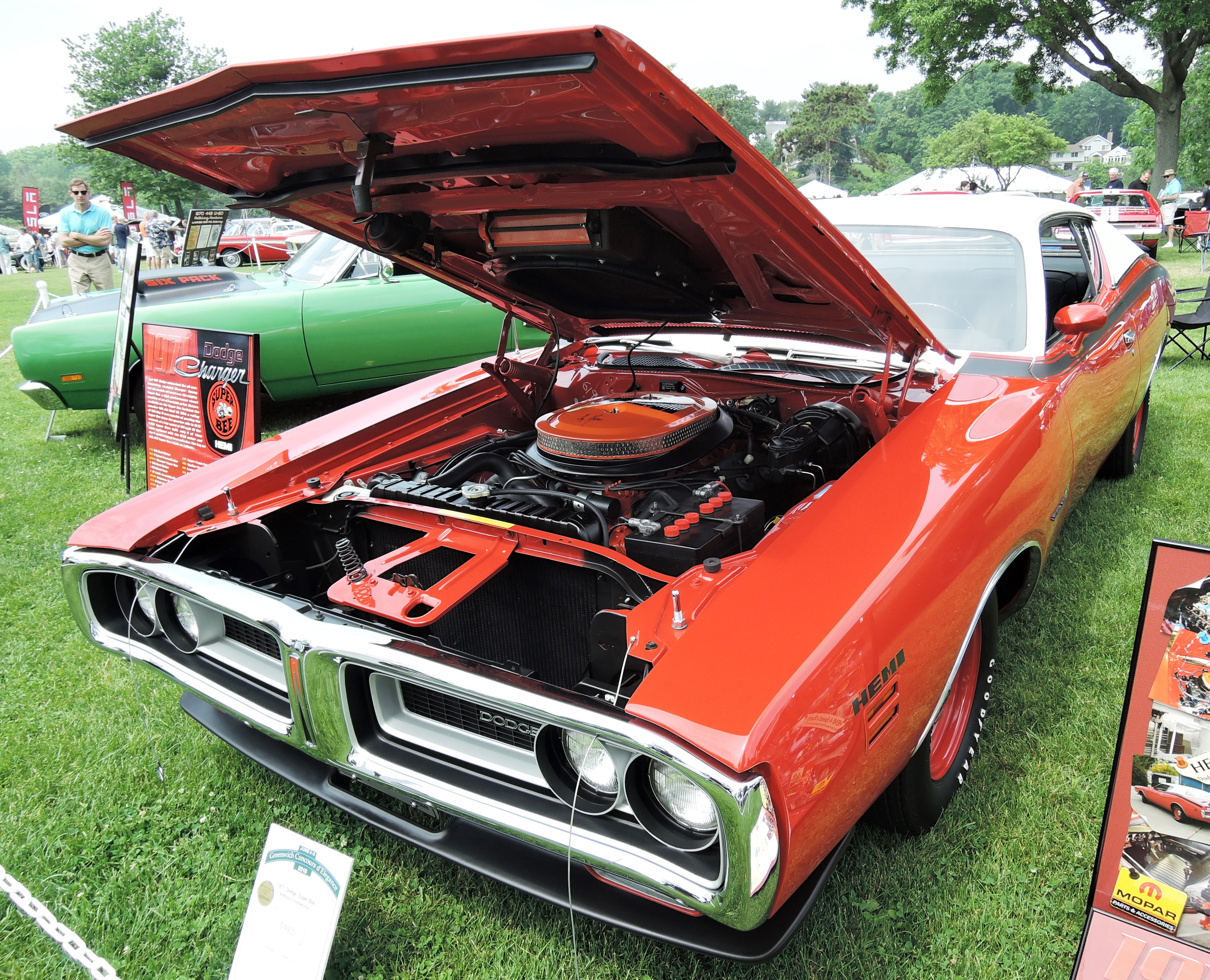 orange 1971 Dodge Super Bee - greenwich concours