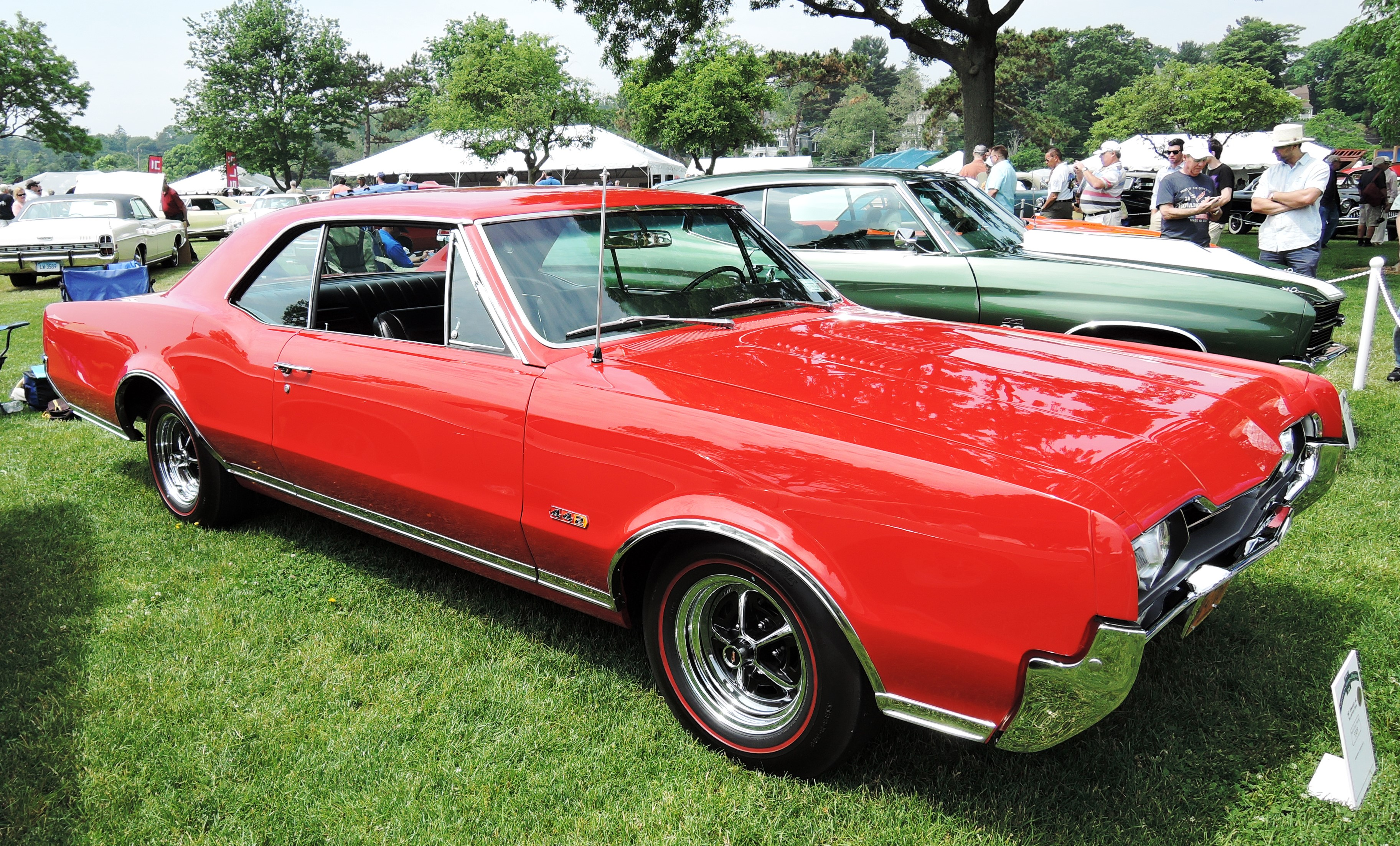 red 1967 Oldmobile 442 - greenwich concours