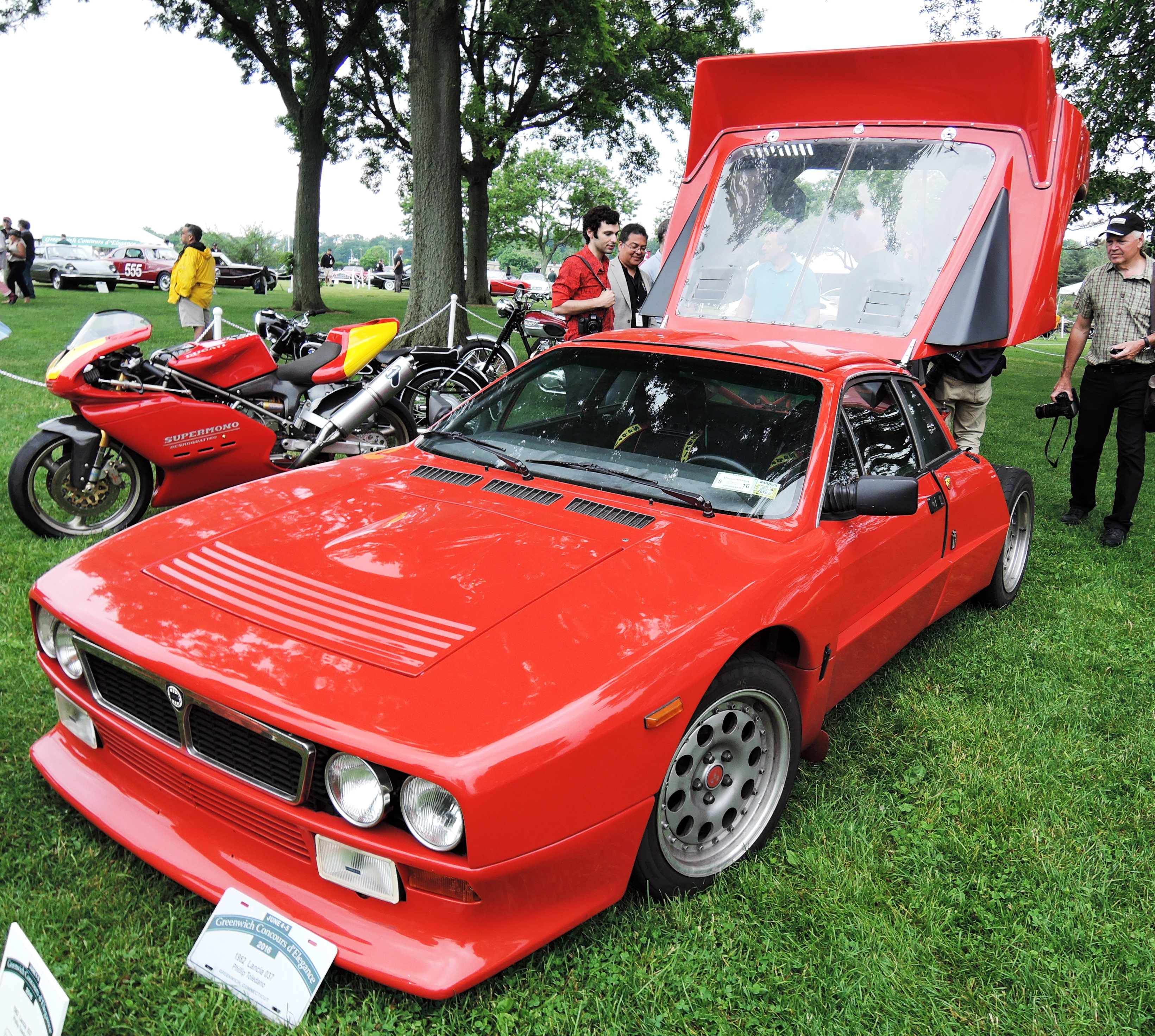 red 1982 Lancia 037 Coupe - Greenwich concours d'elegance