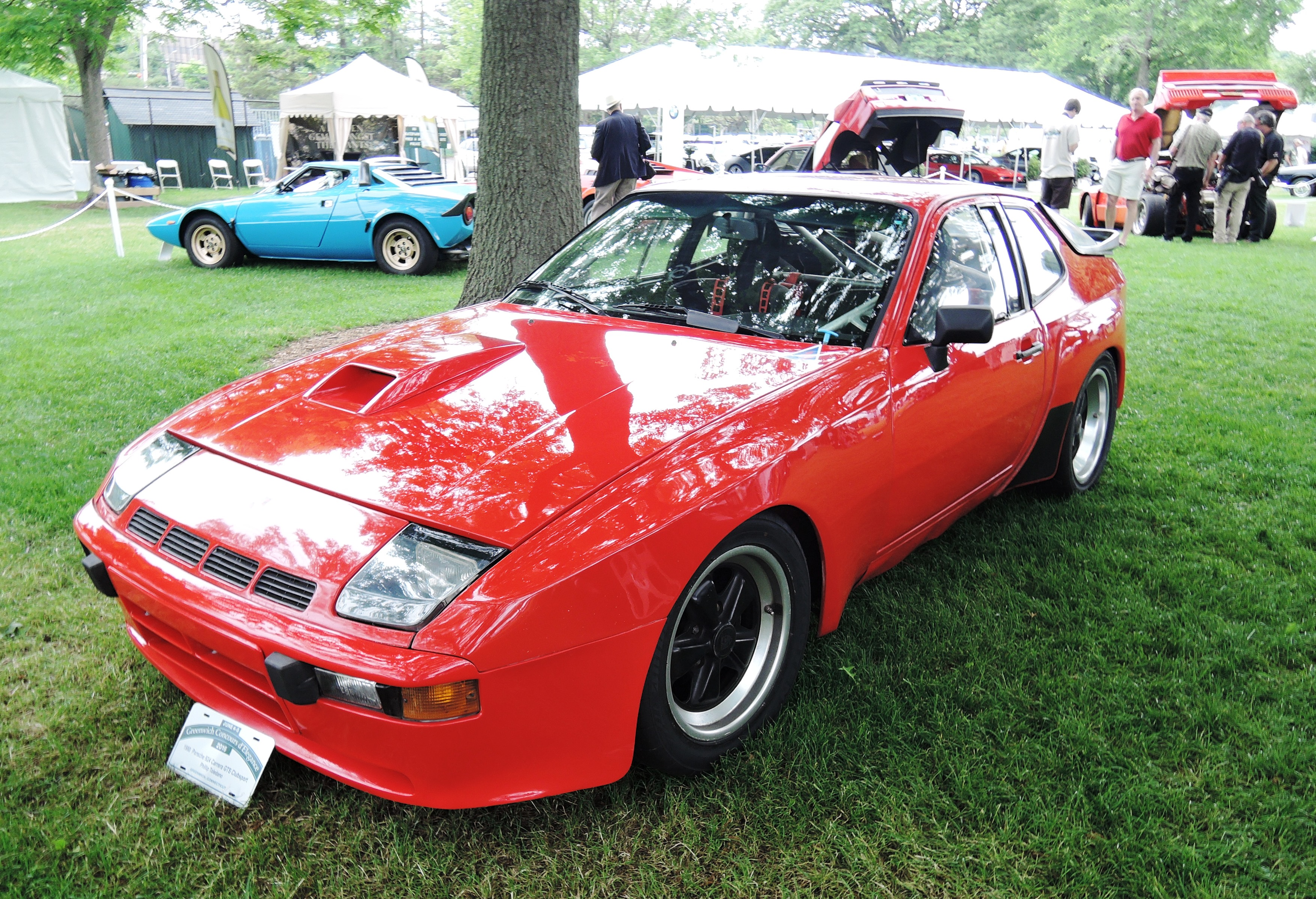 red 1980 Porsche 924 Carrera GTS Clubsport Coupe - Greenwich concours d'elegance