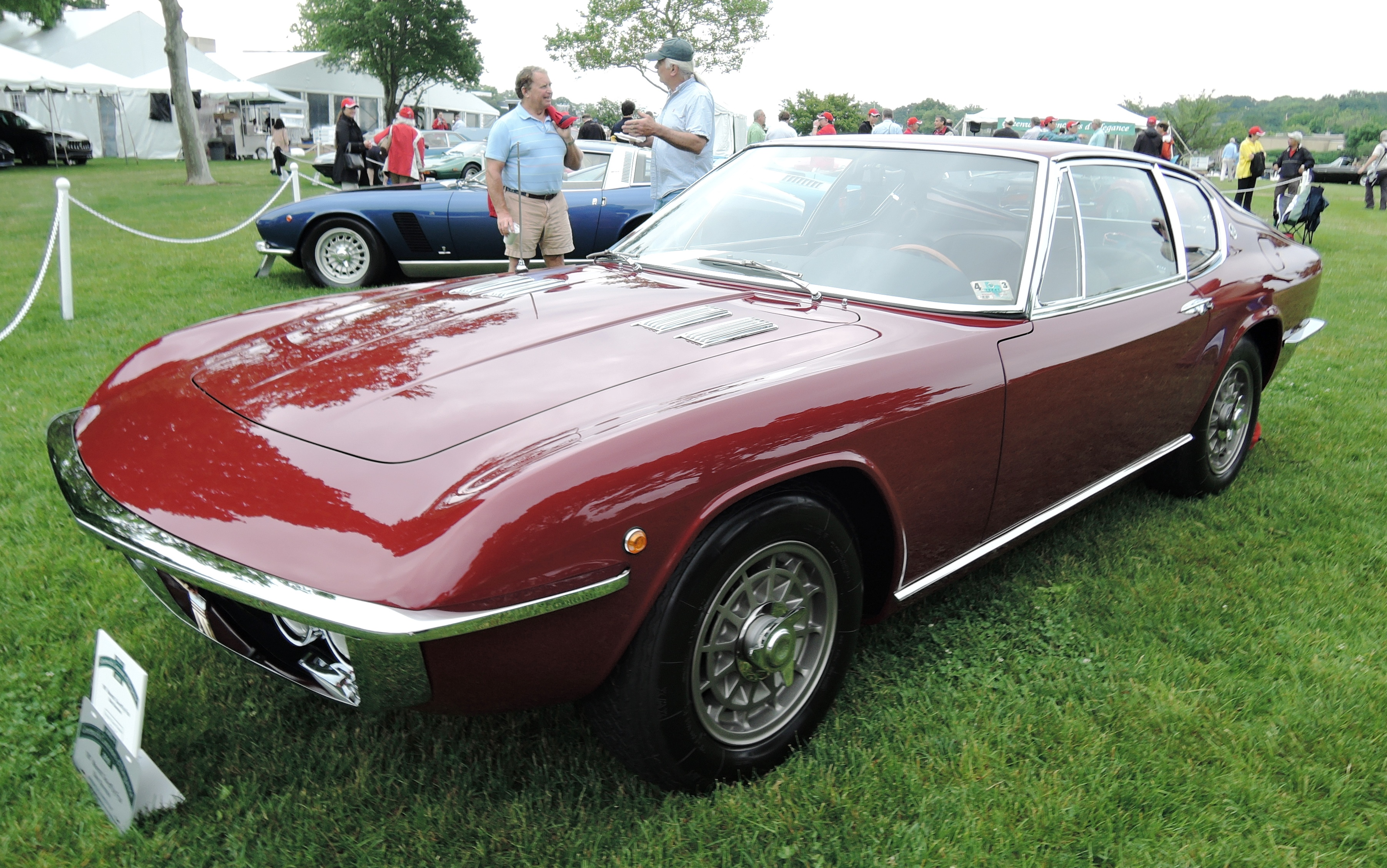 red 1967 Maserati One-off by Frua Coupe - Greenwich concours d'elegance