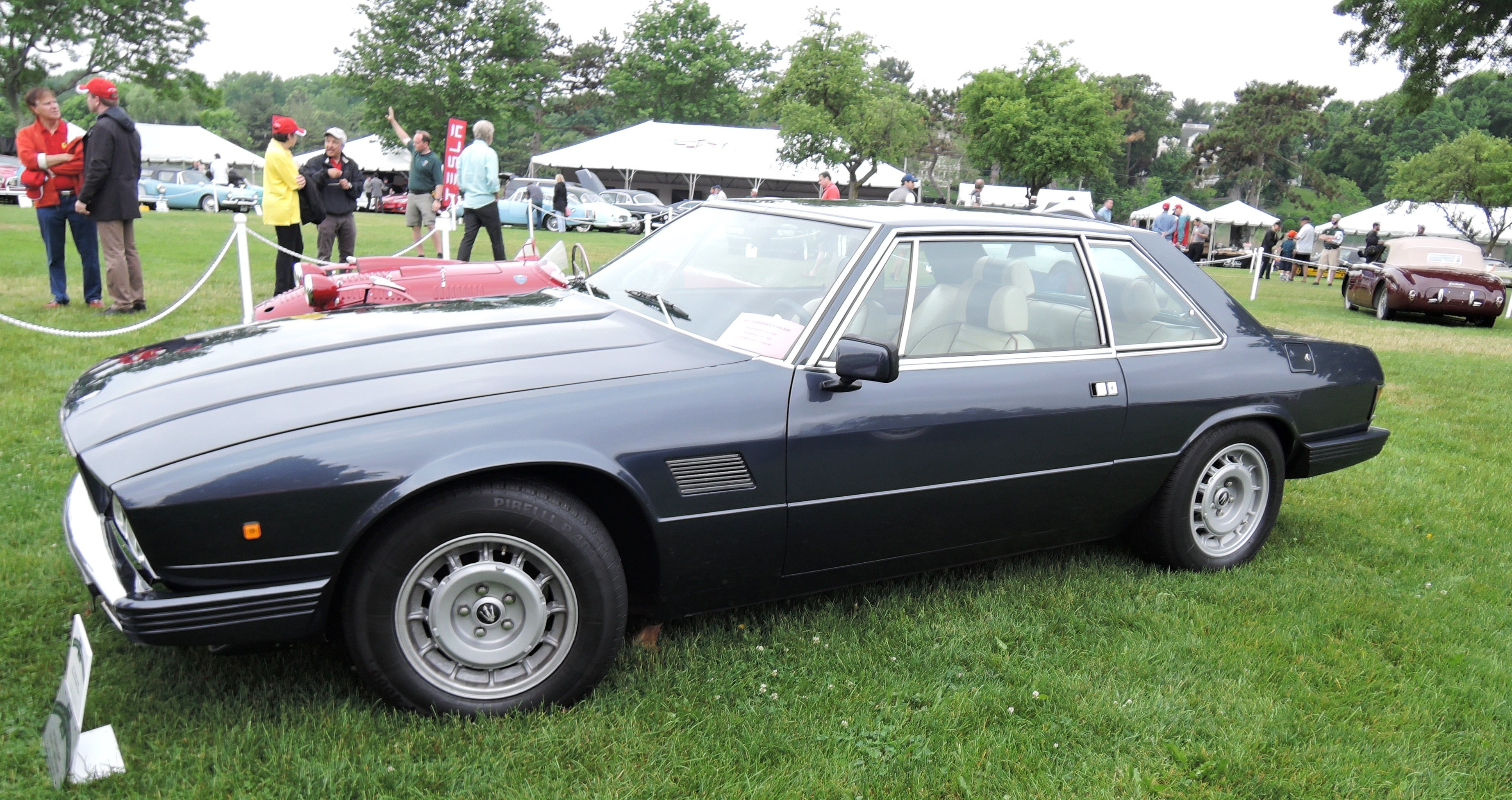 blue 1977 Maserati Kyalami Coupe - Greenwich concours d'elegance