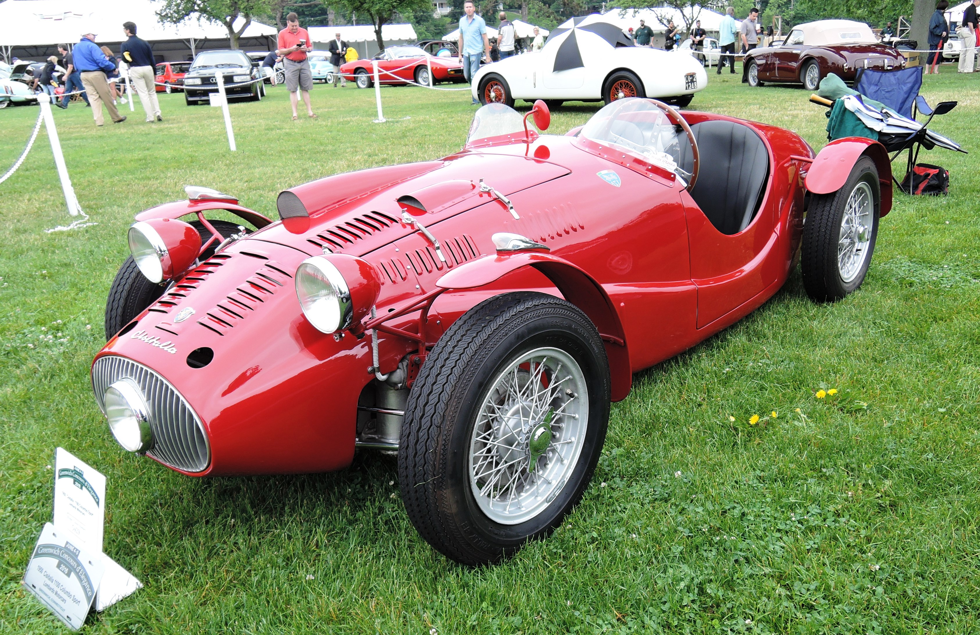 red 1950 Cisitalia 1100 Columbo Sport - Greenwich concours d'elegance
