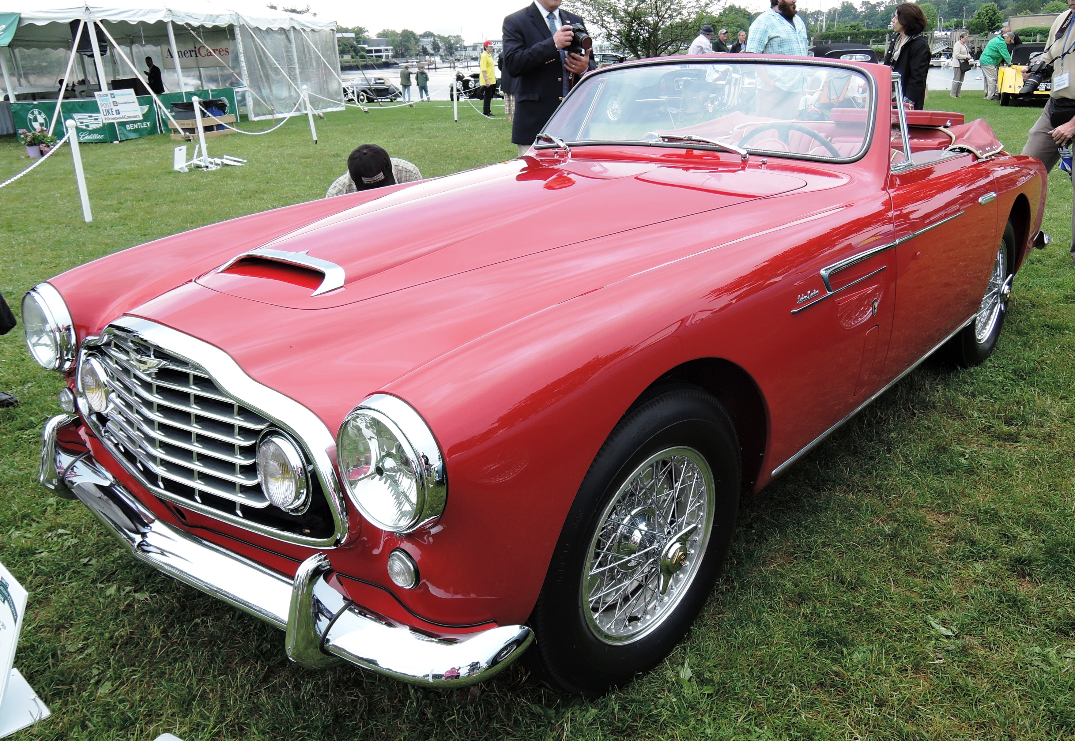 red 1953 Aston Martin DB2/4 - Greenwich concours d'elegance